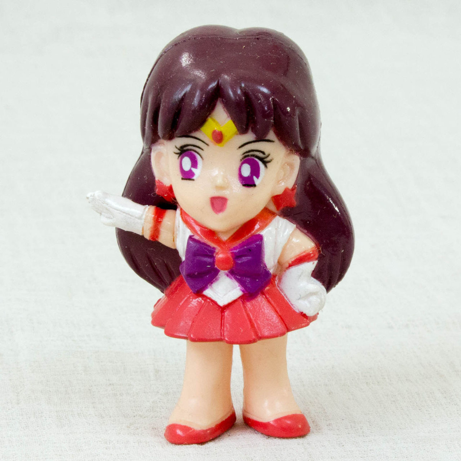 "Sailor Moon Sailor Mars (Rei Hino) Retro Mini Figure 2.5"" BANDAI JAPAN ANIME MANGA"