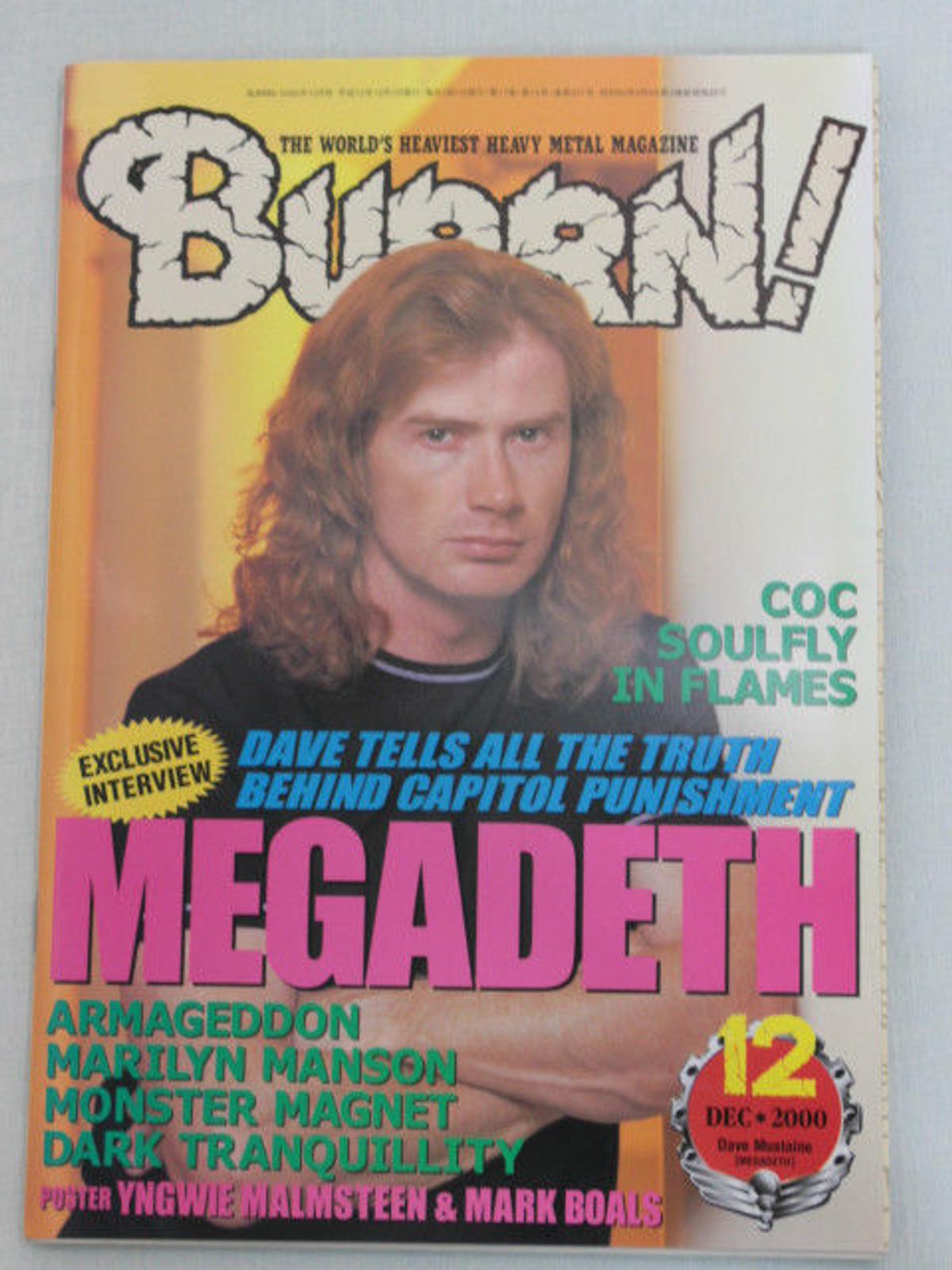 2000/12 BURRN Japan Magazine MEGADETH/MOTORHEAD/MARILYN MANSON/DARK TRANQUILLITY