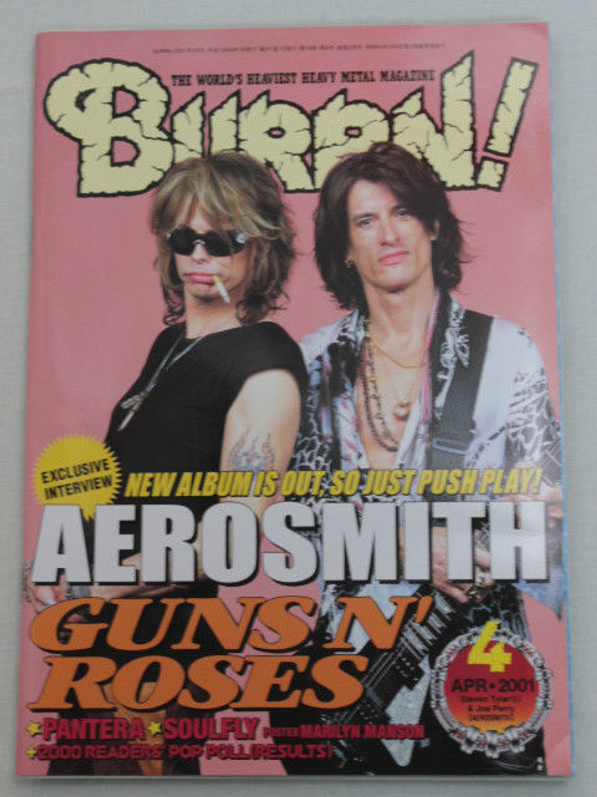 2001/04 BURRN! Japan Magazine AEROSMITH/GUNS N' ROSES/ARCH ENEMY/ROYAL HUNT