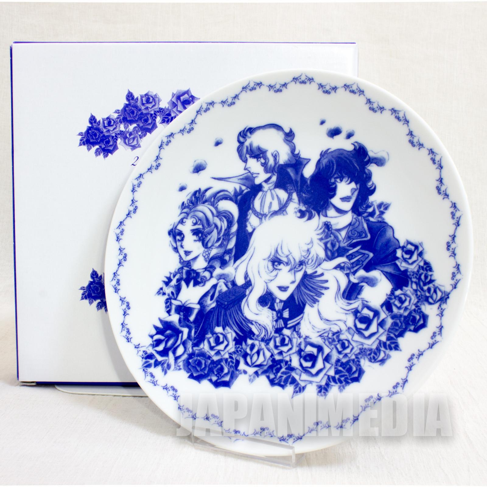 RARE! The Rose of Versailles Dish Plate Hankyu Sanbangai JAPAN ANIME MANGA