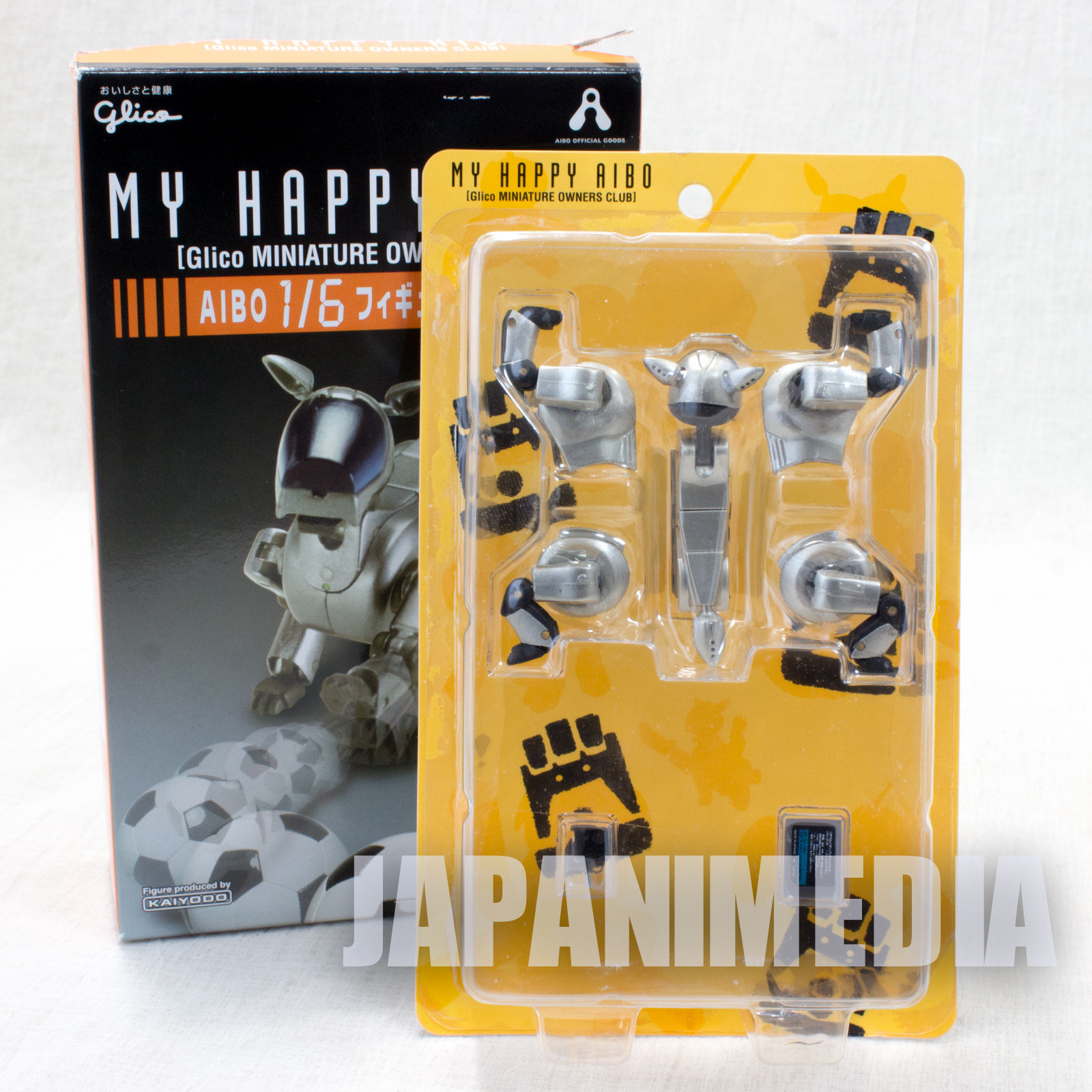 MY HAPPY AIBO ERS-210A Gold 1/6 Miniature Figure Kaiyodo Glico JAPAN SONY
