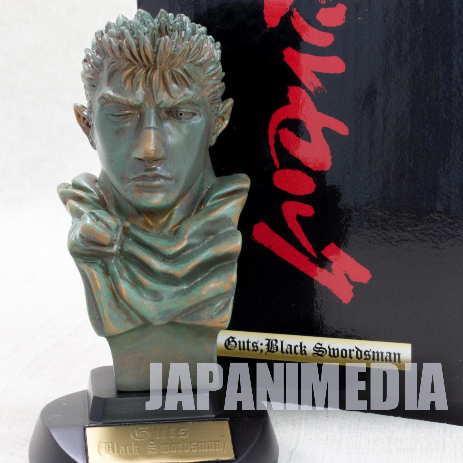 Berserk Guts Black Swordsman Bust Figure Bronze Statue type Art of War JAPAN