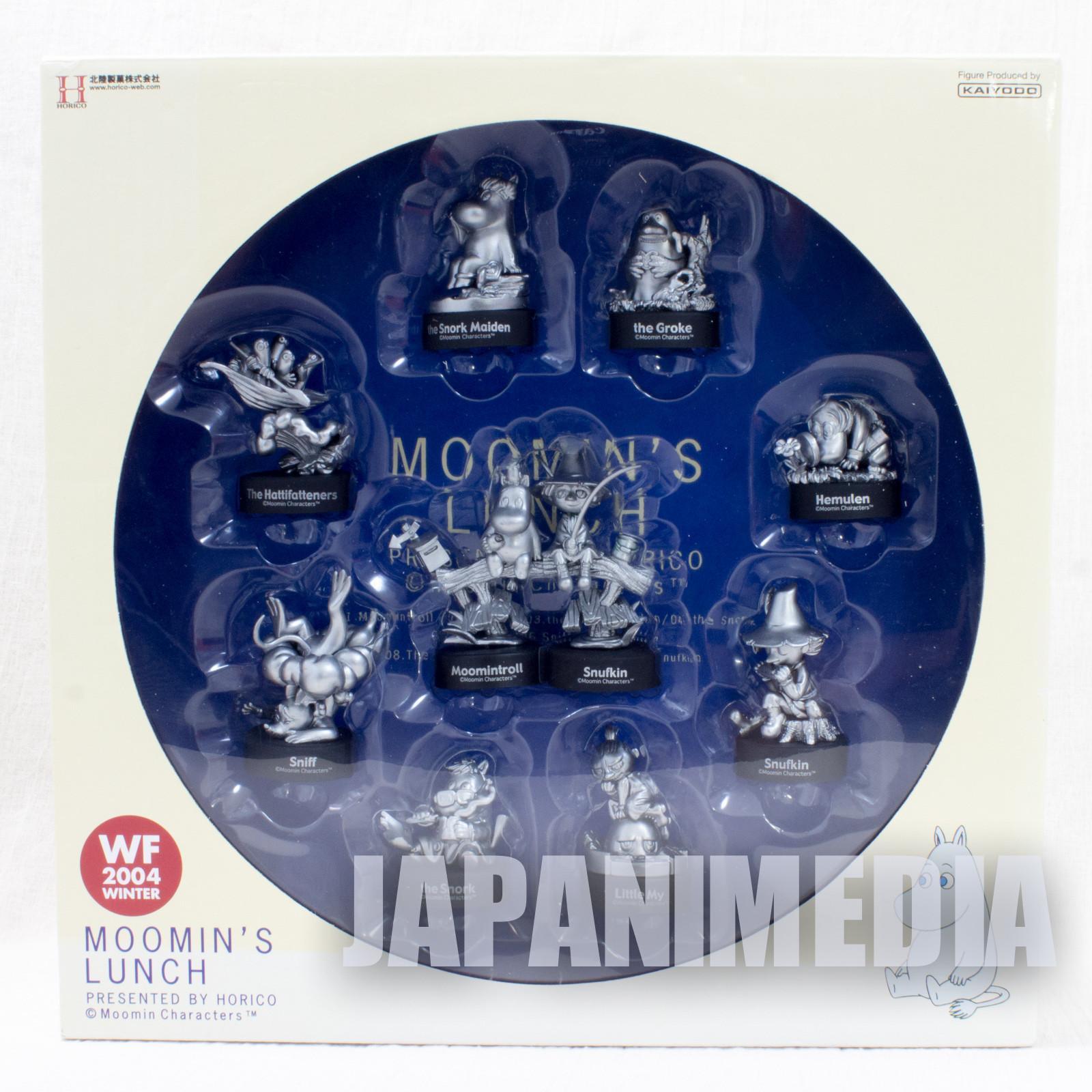 Moomin's Lunch Kaiyodo Moomin Mini Vignette Figure 10pc Collection Silver Color / WF2004 Winnter