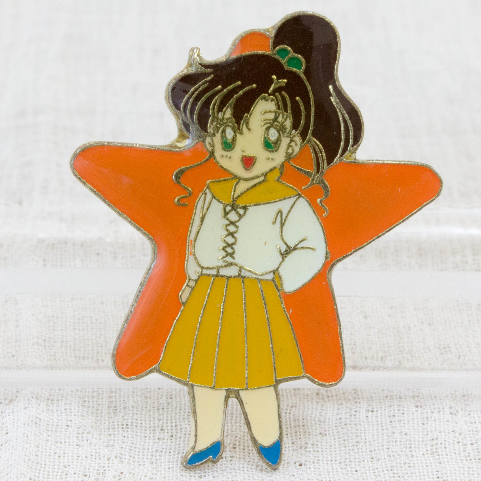 Sailor Moon Makoto Kino (Sailor Jupiter) Metal Pins Badge JAPAN ANIME 1