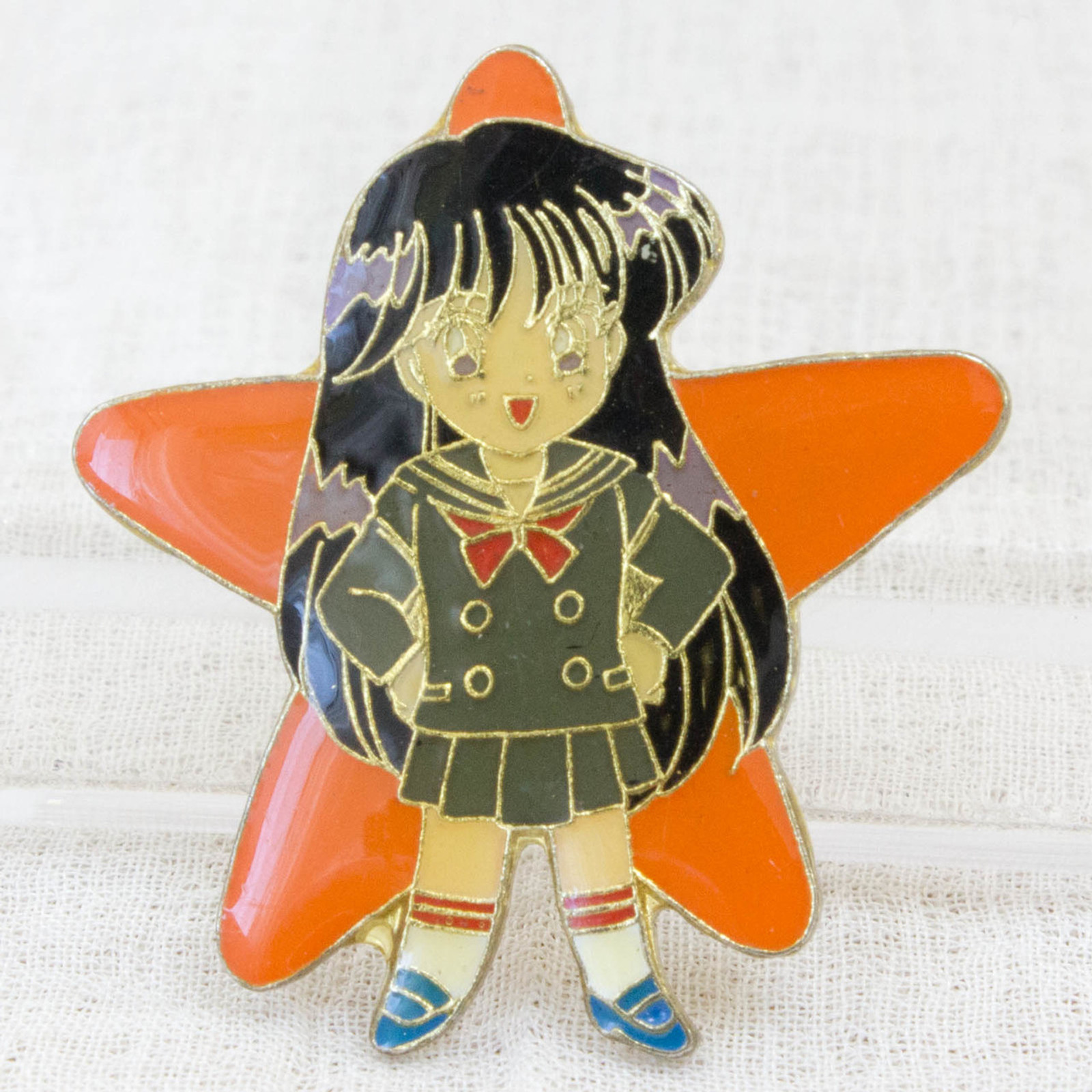 Sailor Moon Rei Hino (Sailor Mars) Metal Pins Badge JAPAN ANIME