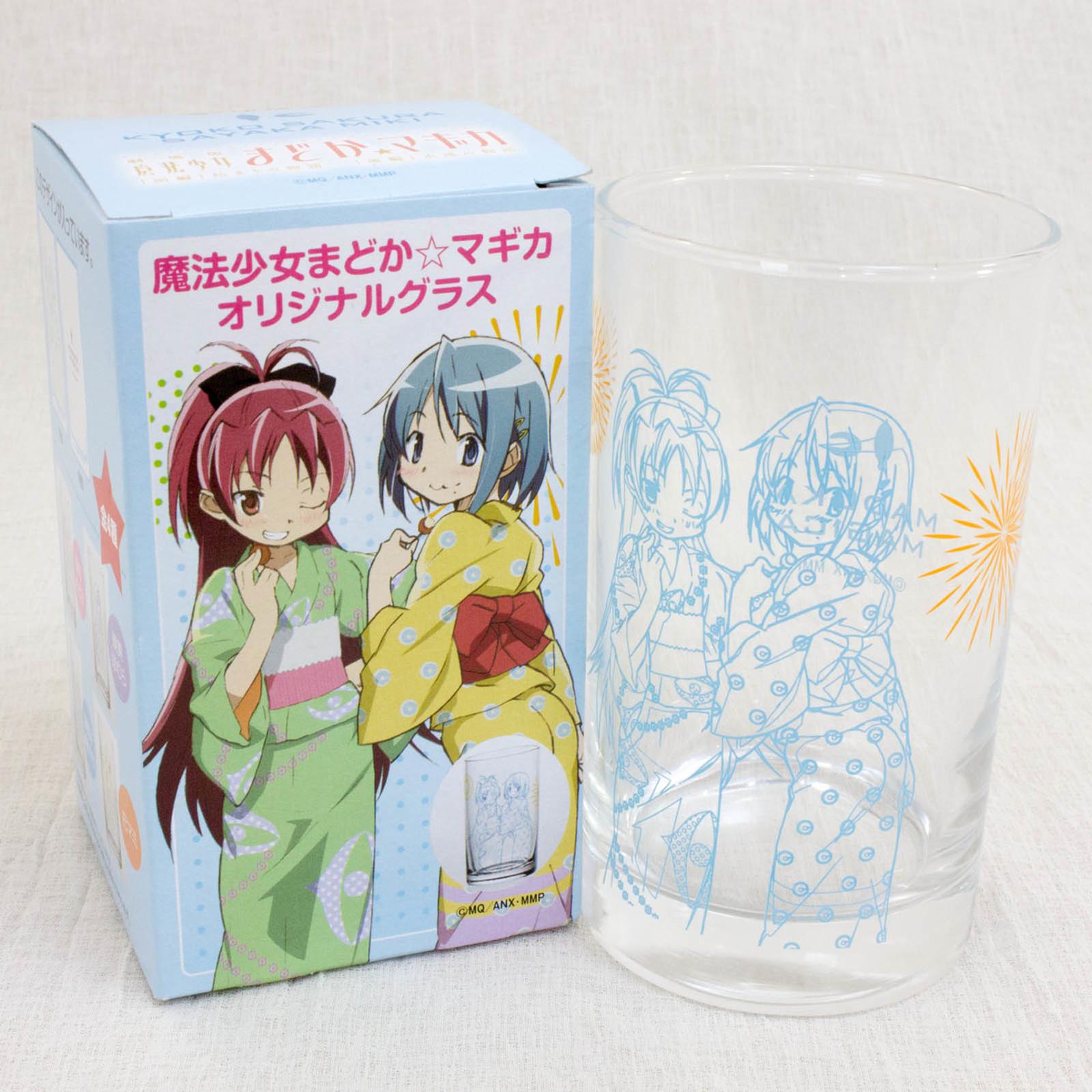 Puella Magi Magica Madoka Miki Sayaka & Kyoko Sakura Original Glass (Yukata ver.) JAPAN