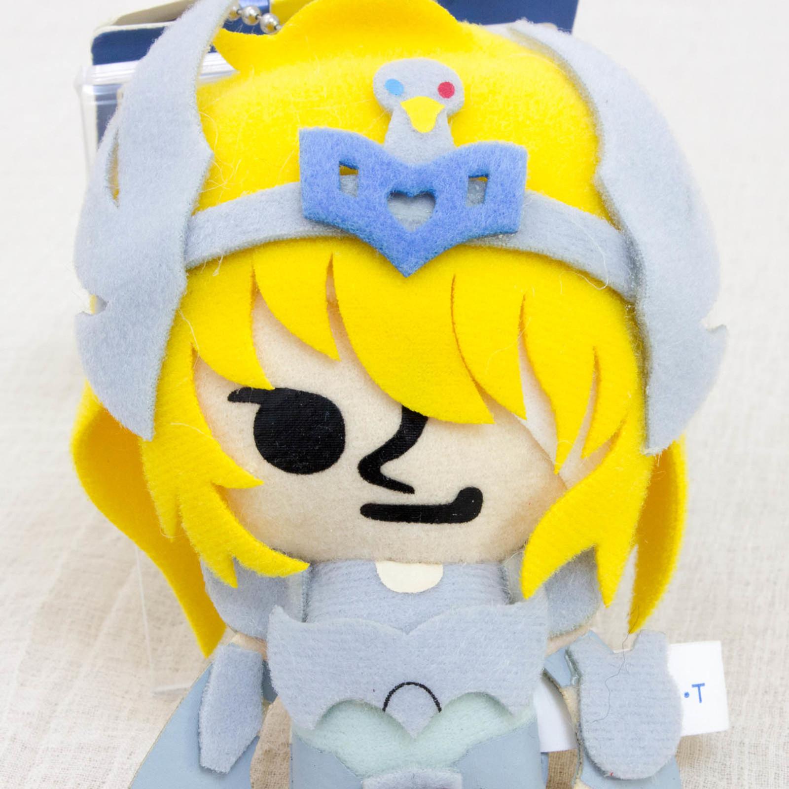 Saint Seiya Cygnus Hyoga Panson Works Mini Plush Doll Ballchain JAPAN ANIME