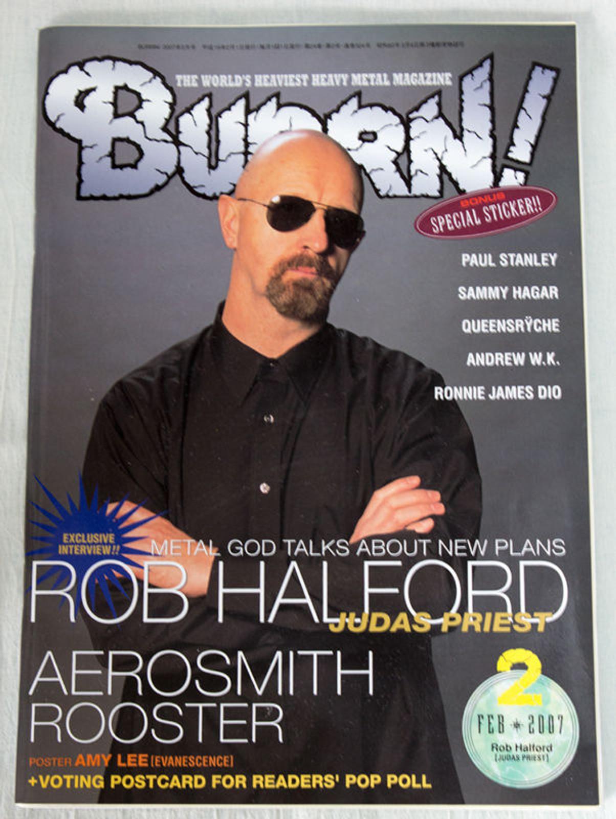 2007/02 BURRN! Japan Magazine ROB HALFORD/AEROSMITH/ROOSTER/SONATA ARCTICA/UFO