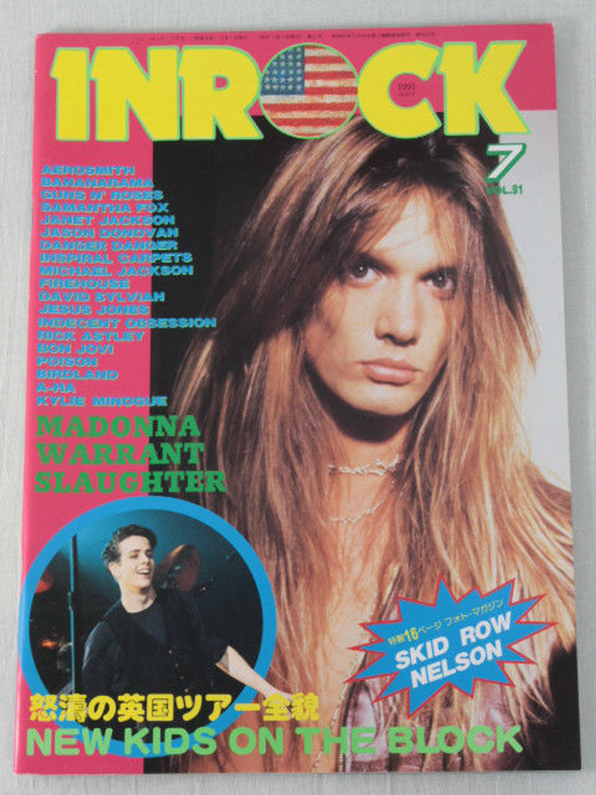 INROCK JAPAN Magazine JUL/1991 SKID ROW/MADONNA/INDECENT OBSESSION/DEBBIE GIBSON