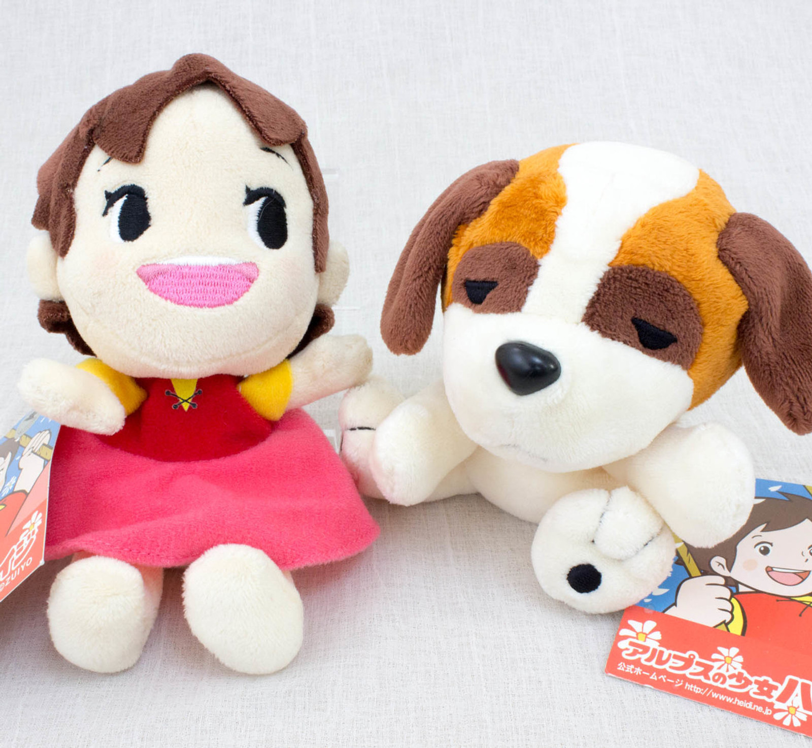 Heidi Girl of the Alps Heidi & Josef Mini Plush Doll Set Furyu JAPAN ANIME MANGA