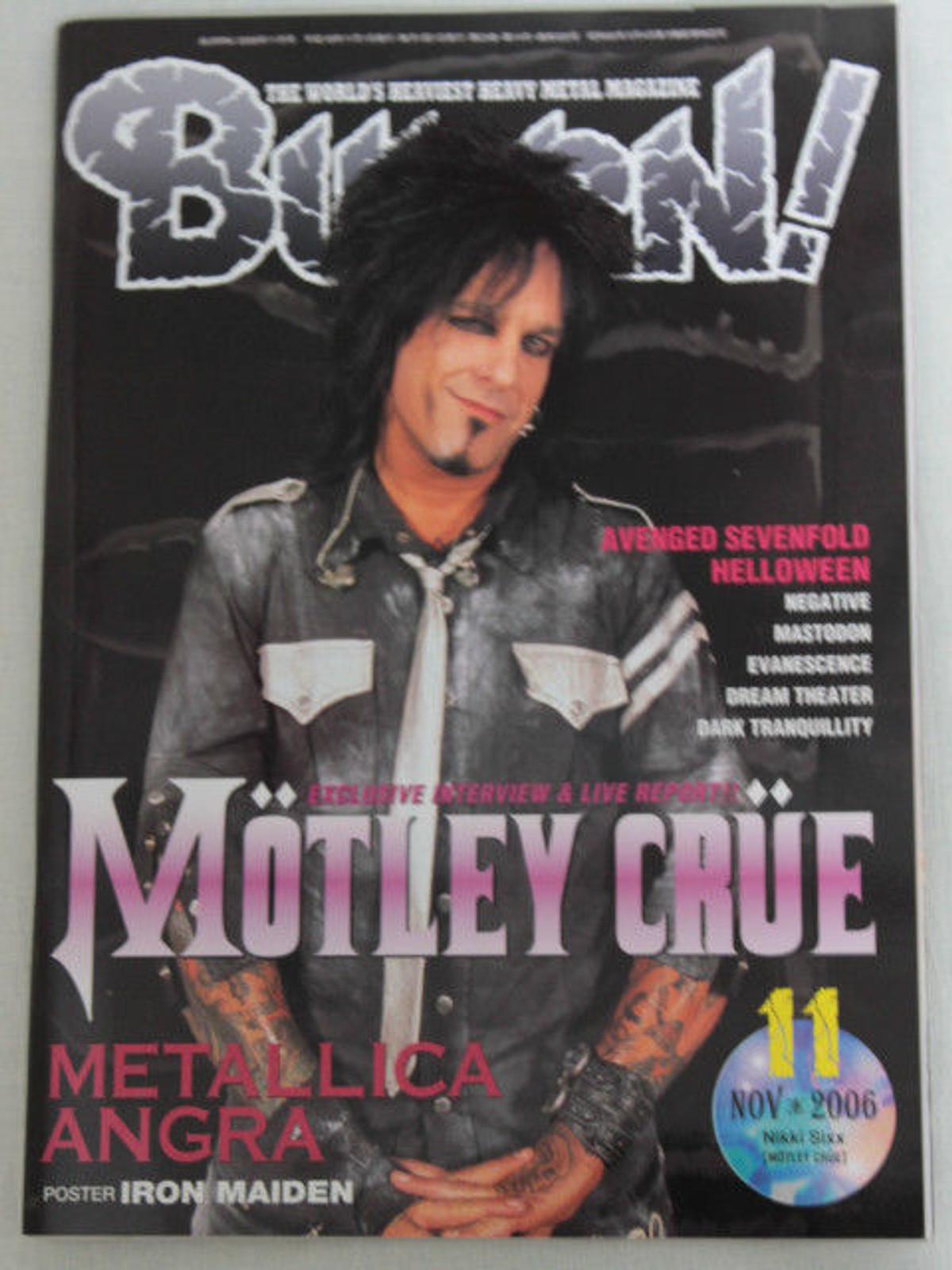 2006/11 BURRN! Japan Magazine MOTLEY CRUE/ANGRA/AVENGED SEVENFOLD