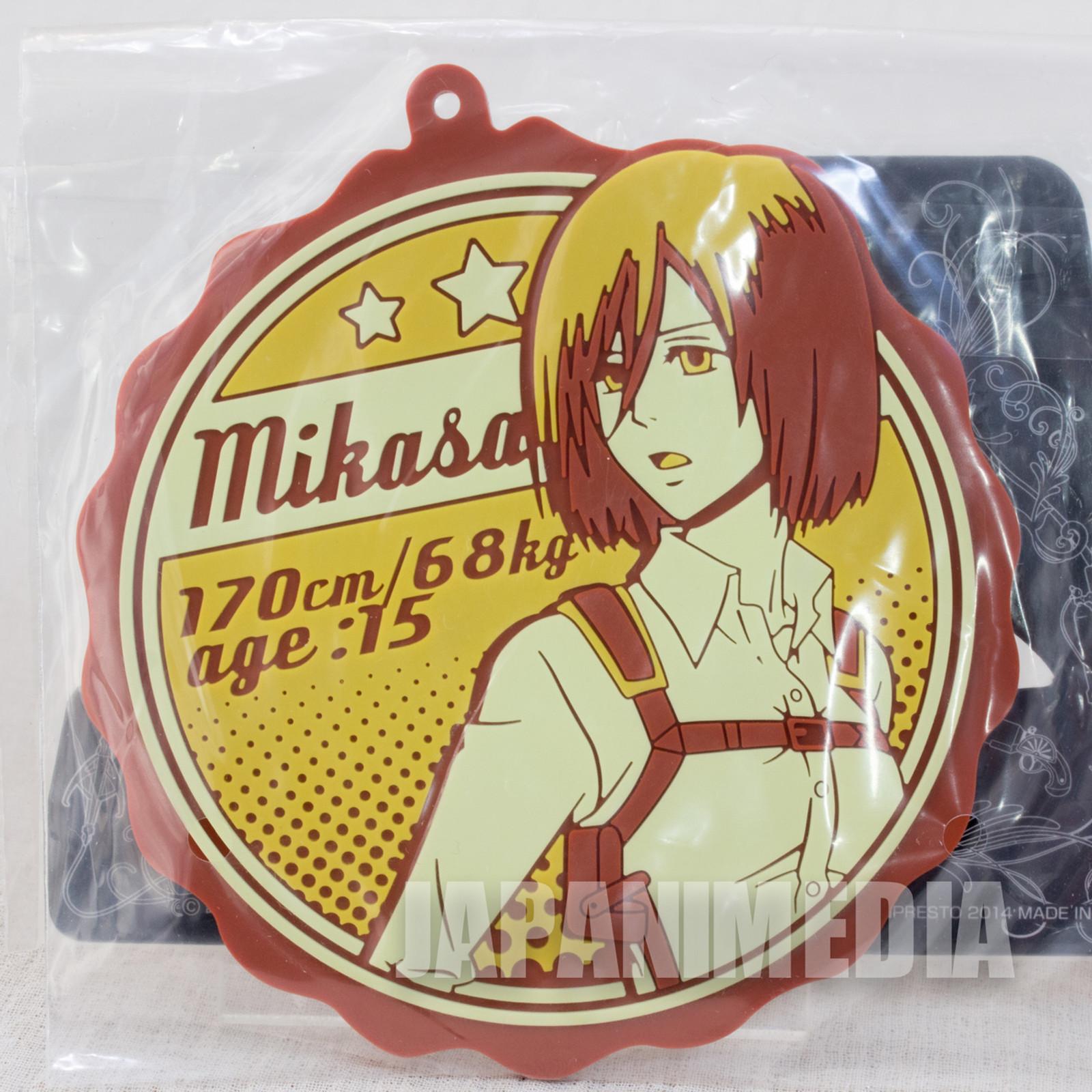 Attack on Titan Rubber Coaster Mikasa Ackerman Banpresto JAPAN ANIME MANGA