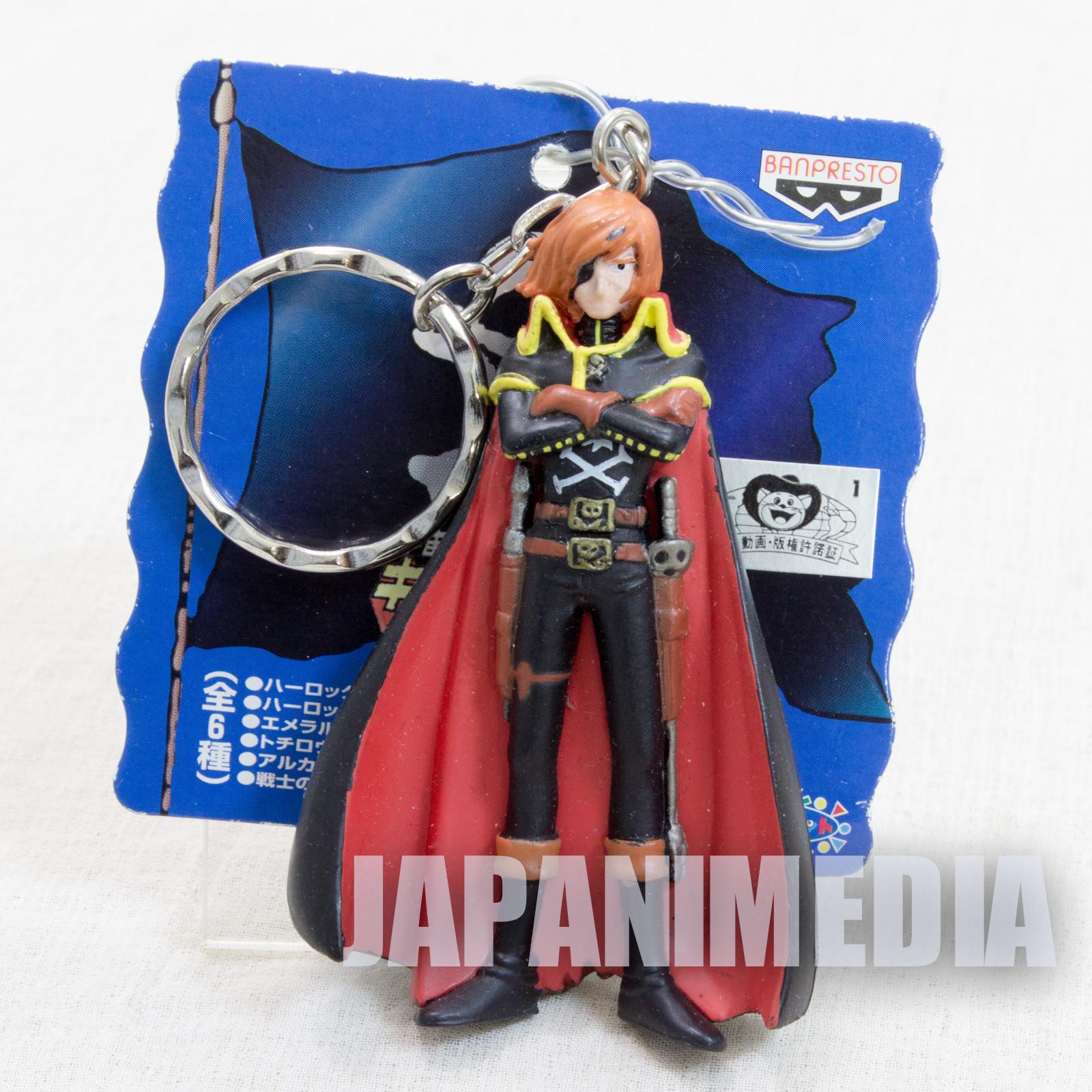 Space Pirate Captain Harlock A Figure Key Chain JAPAN ANIME MANGA