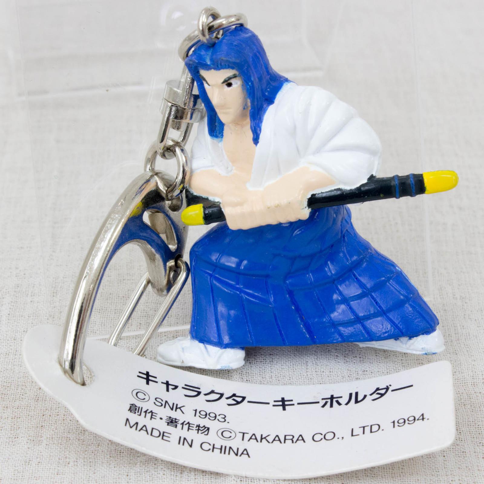 Retro RARE! Samurai Shodown Ukyo Tachibana Figure Key Chain SNK 1993