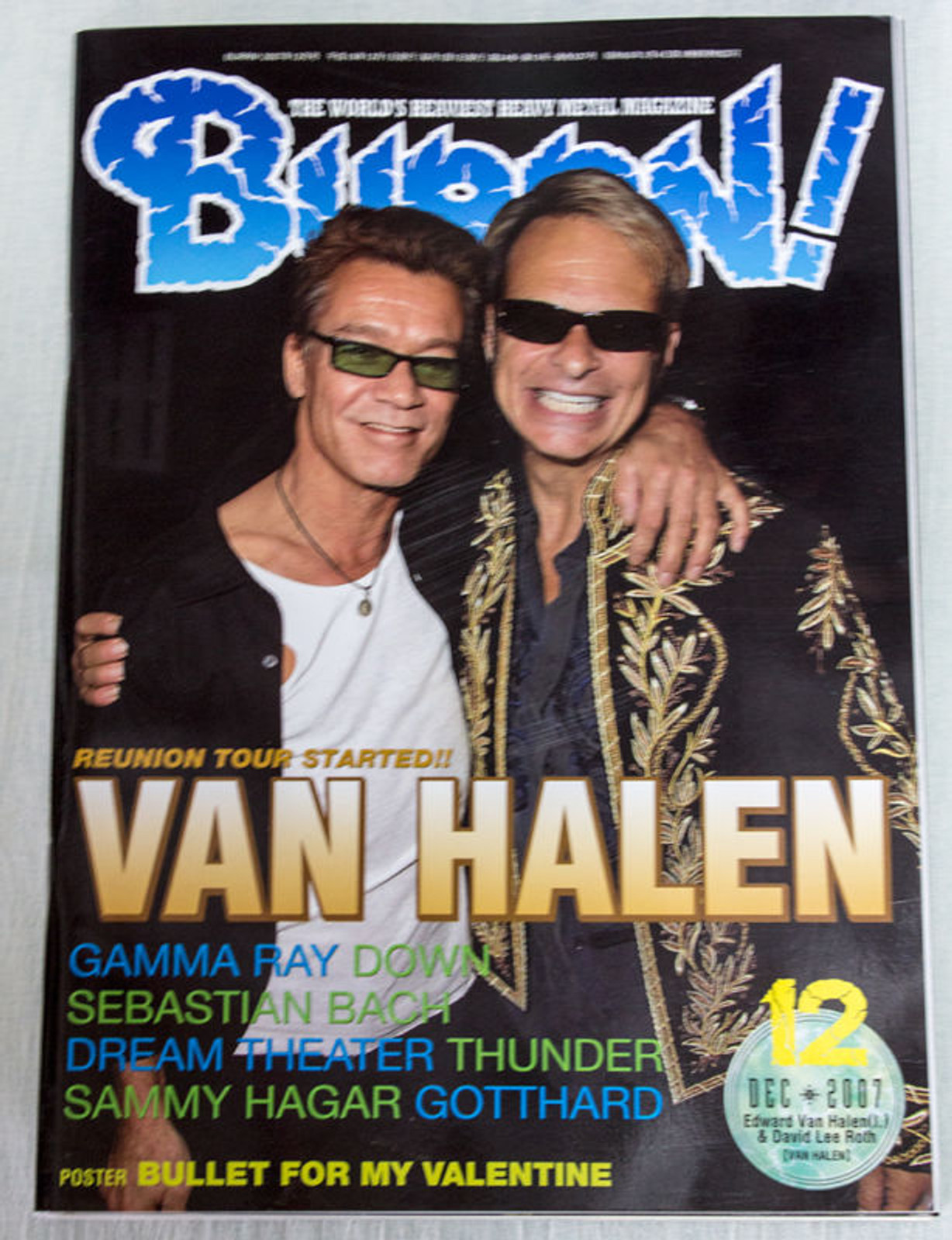2007/12 BURRN! Japan Magazine VAN HALEN/SEBASTIAN BACH/DREAM THEATER/THUNDER