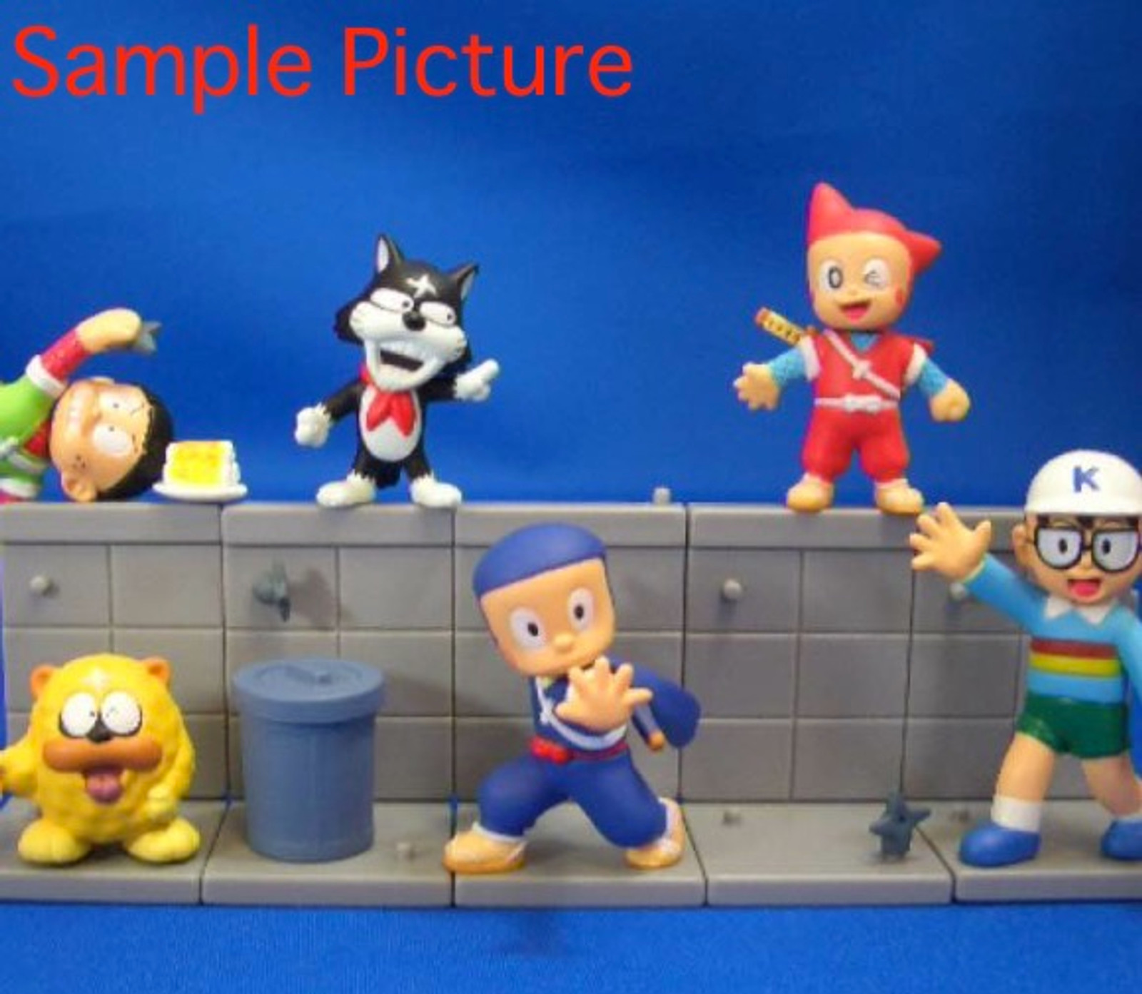 Complete set of Ninja Hattori kun Diorama Mini Figure Epoch JAPAN ANIME MANGA