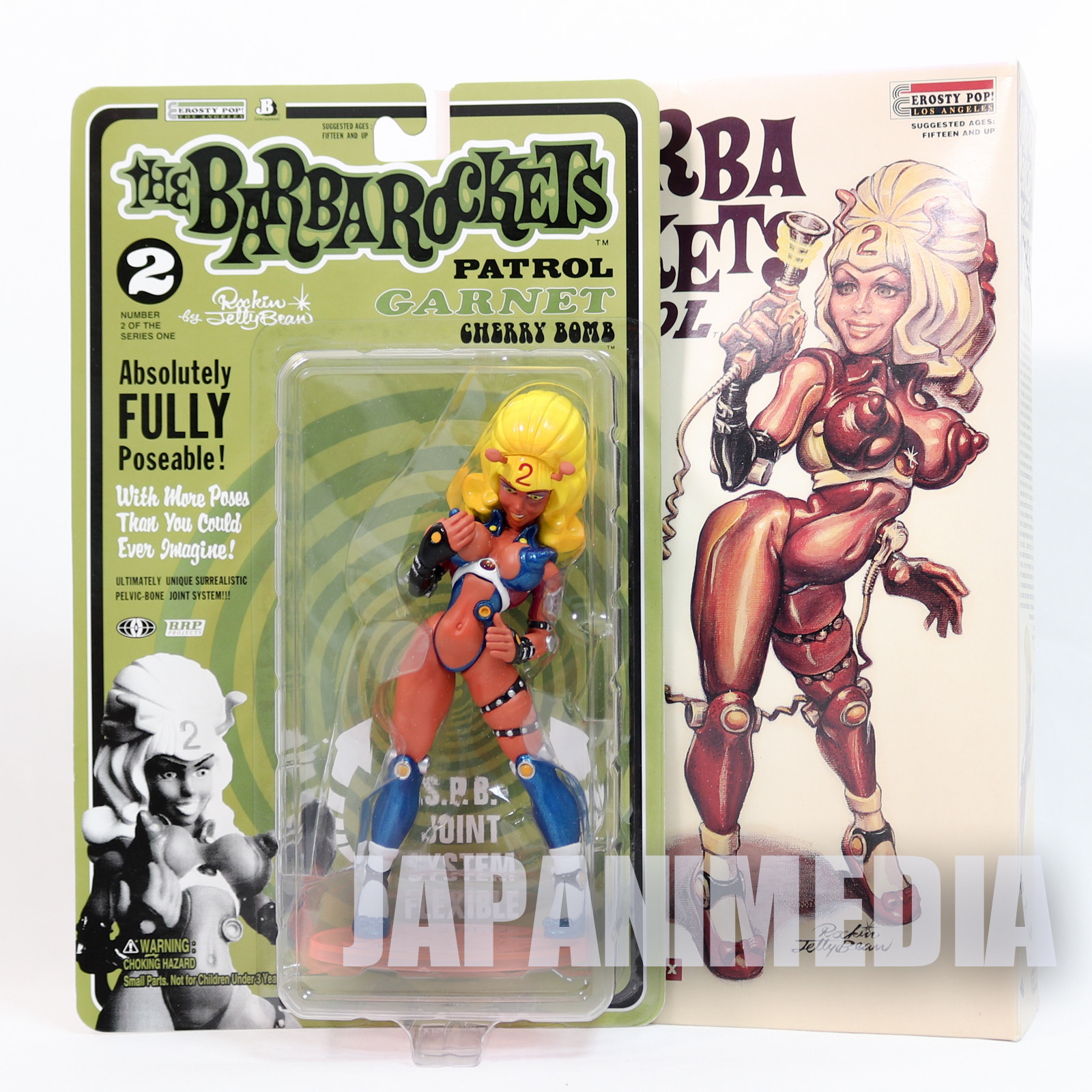 Barba Rockets Patrol Garnet 1/10 Action Figure Rockin' Jelly Bean JAPAN