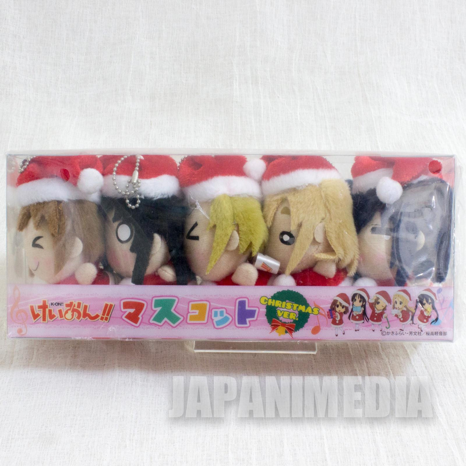 K-ON Mini Plush Doll Christmas ver. 5pc Set Yui Mio Ritus Tsumugi Azusa JAPAN