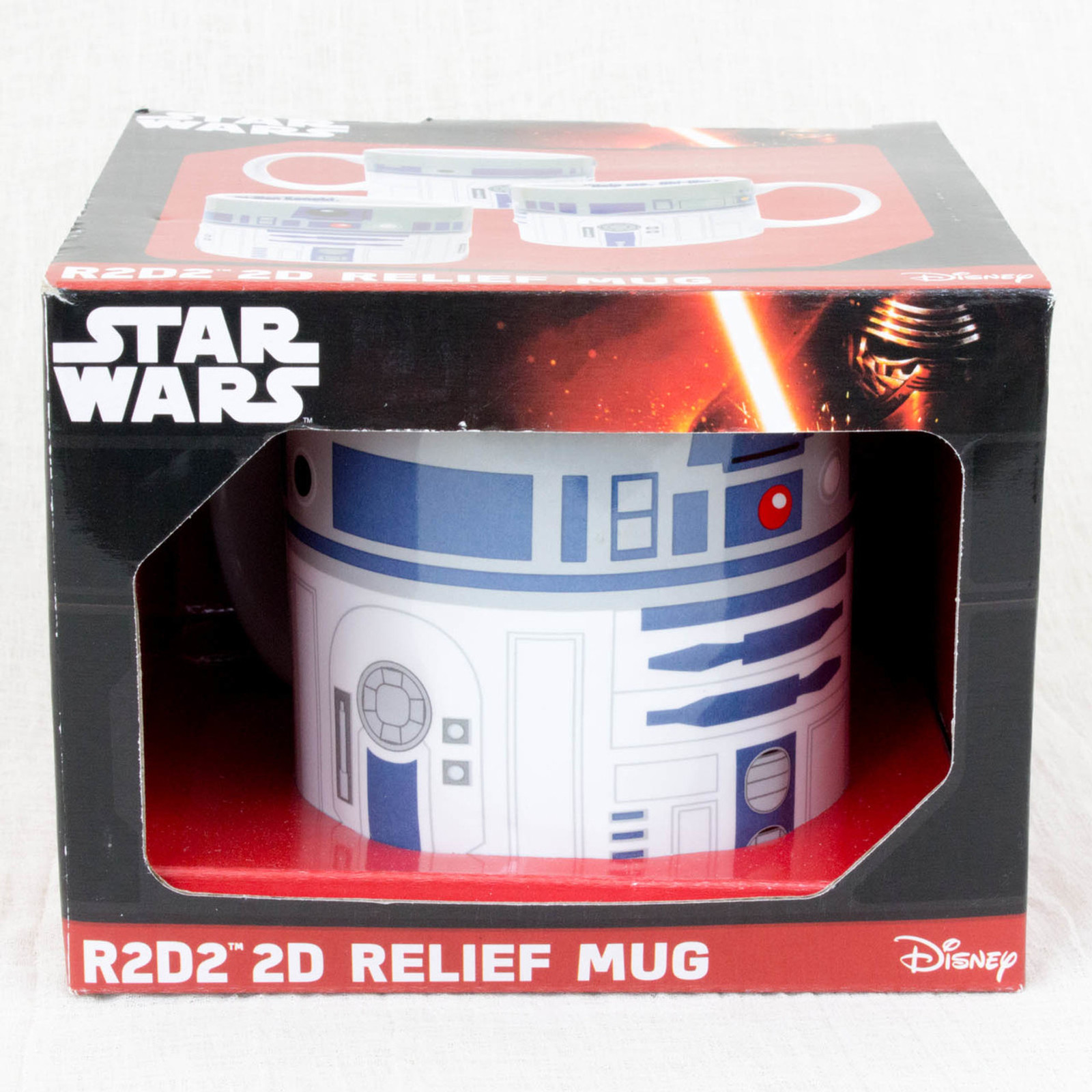STAR WARS R2-D2 Ceramic 2D Relief Mug Hot Toys ZEON MOVIE SF
