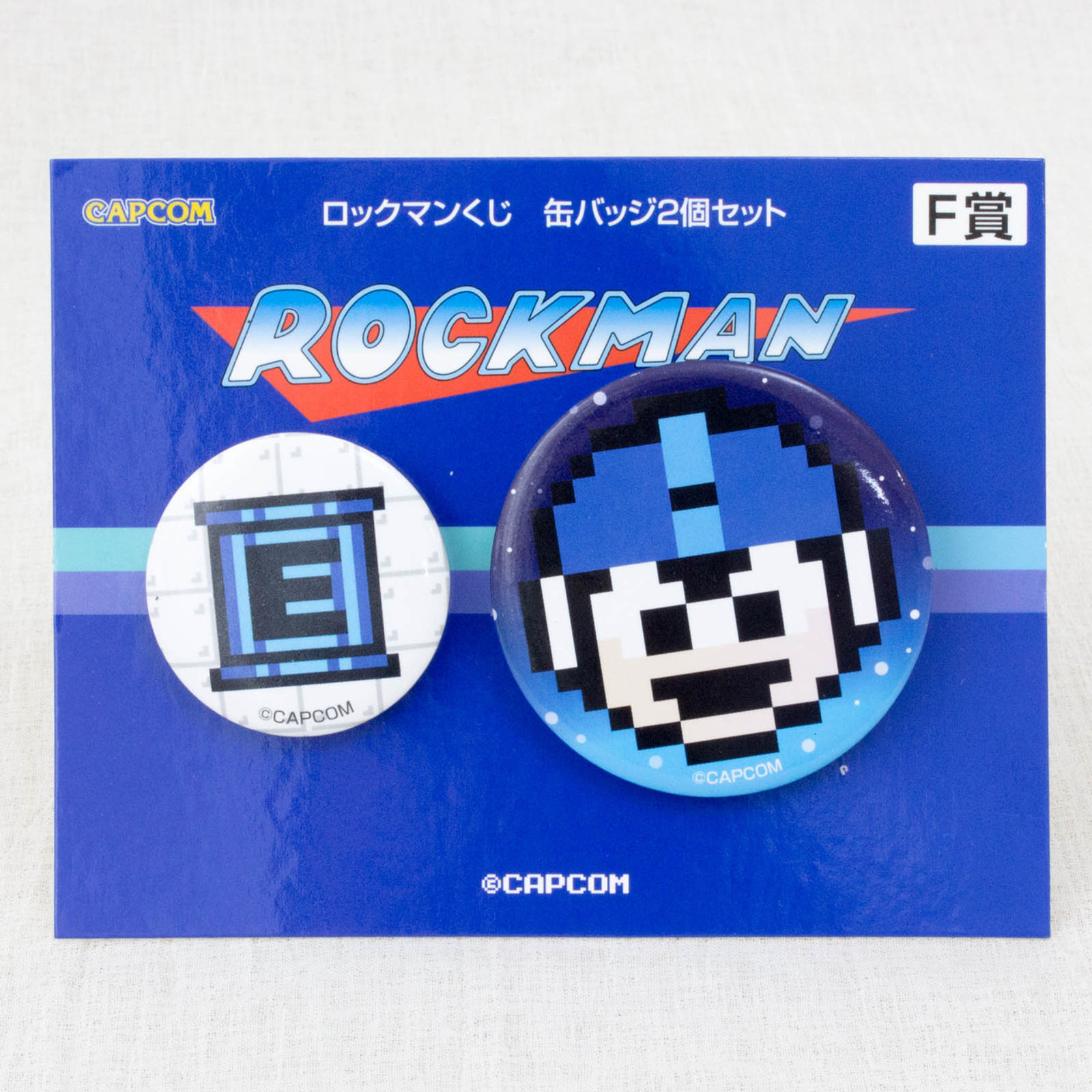 Rockman Button badge 2pc Set JAPAN GAME CAPCOM Mega man