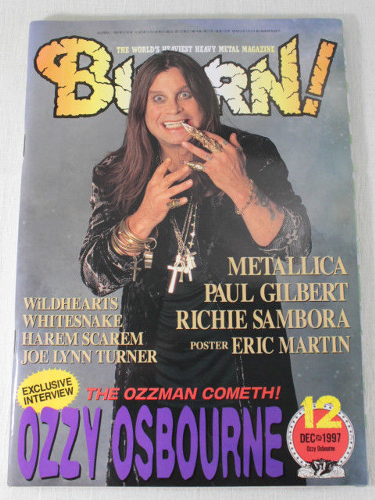 1997/12 BURRN! Japan Rock Magazine OZZY OSBOURNE/HALLOWEEN/MATALLICA/MR.BIG