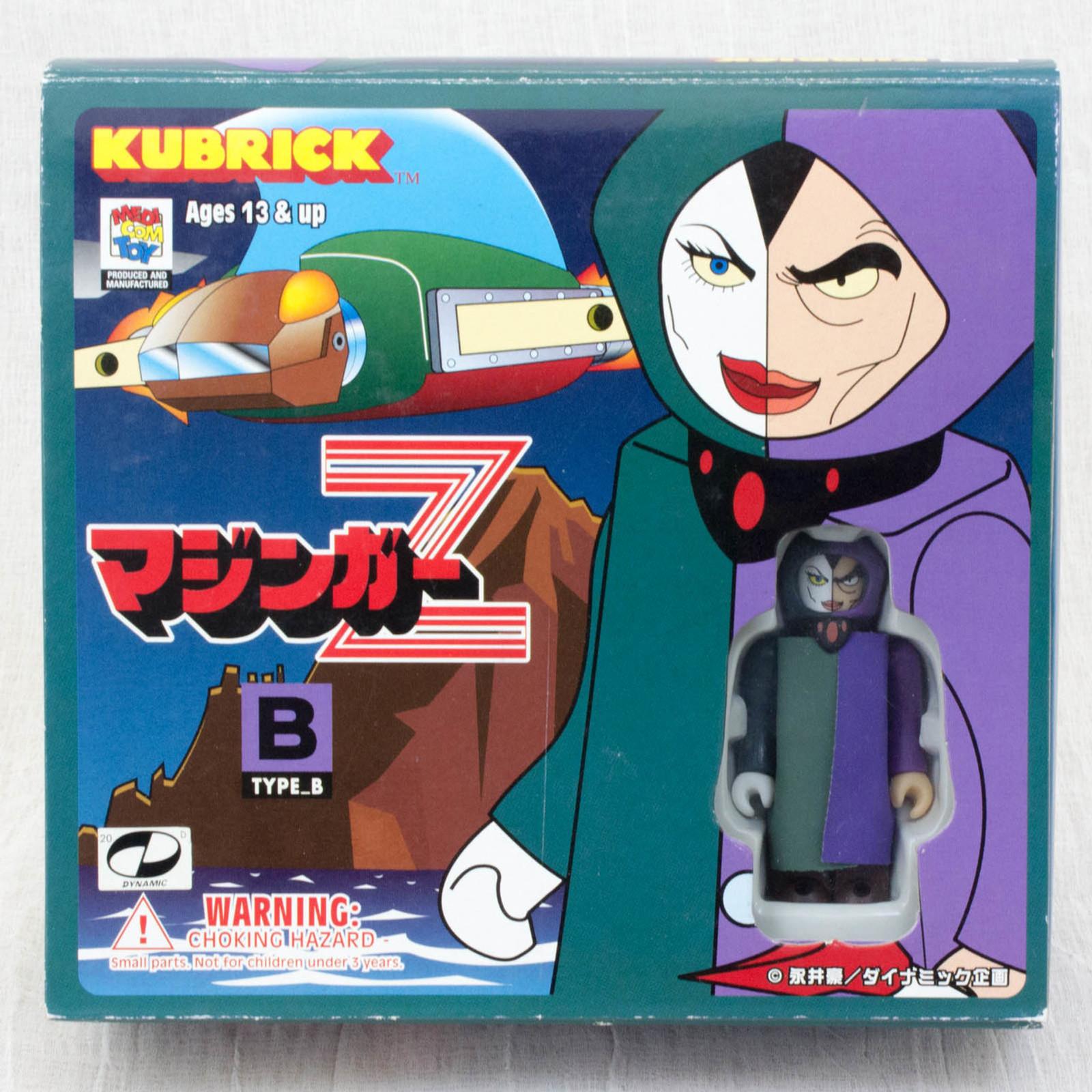 Mazinger Z Kubrick figure 3pc set [Boss Borot  / Aphrodie A /  Baron Ashura ] Medicom Toy