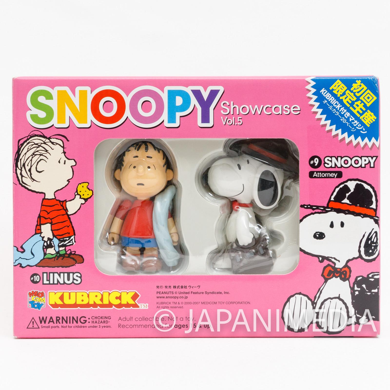 Snoopy Kubrick Showcase Vol.05 Linus Attorney Medicom Toy Figure JAPAN
