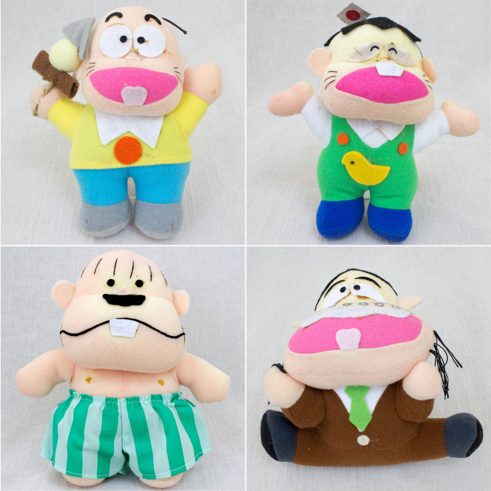 {JUNK DAMAGED} Osomatsu kun Plush Doll 4pc Set JAPAN ANIME