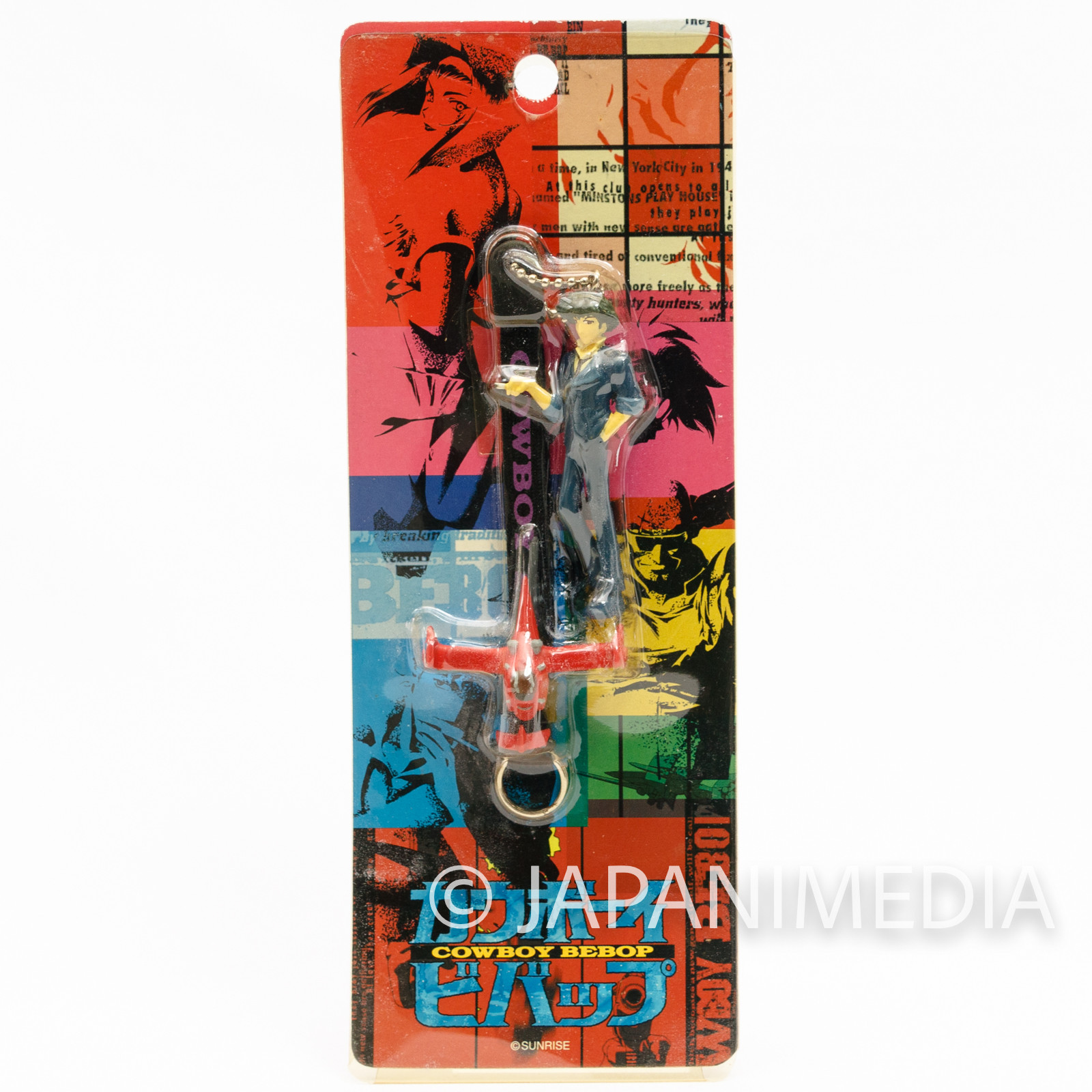Cowboy Bebop Spike Spiegel & Sword Fish Figure Strap JAPAN ANIME