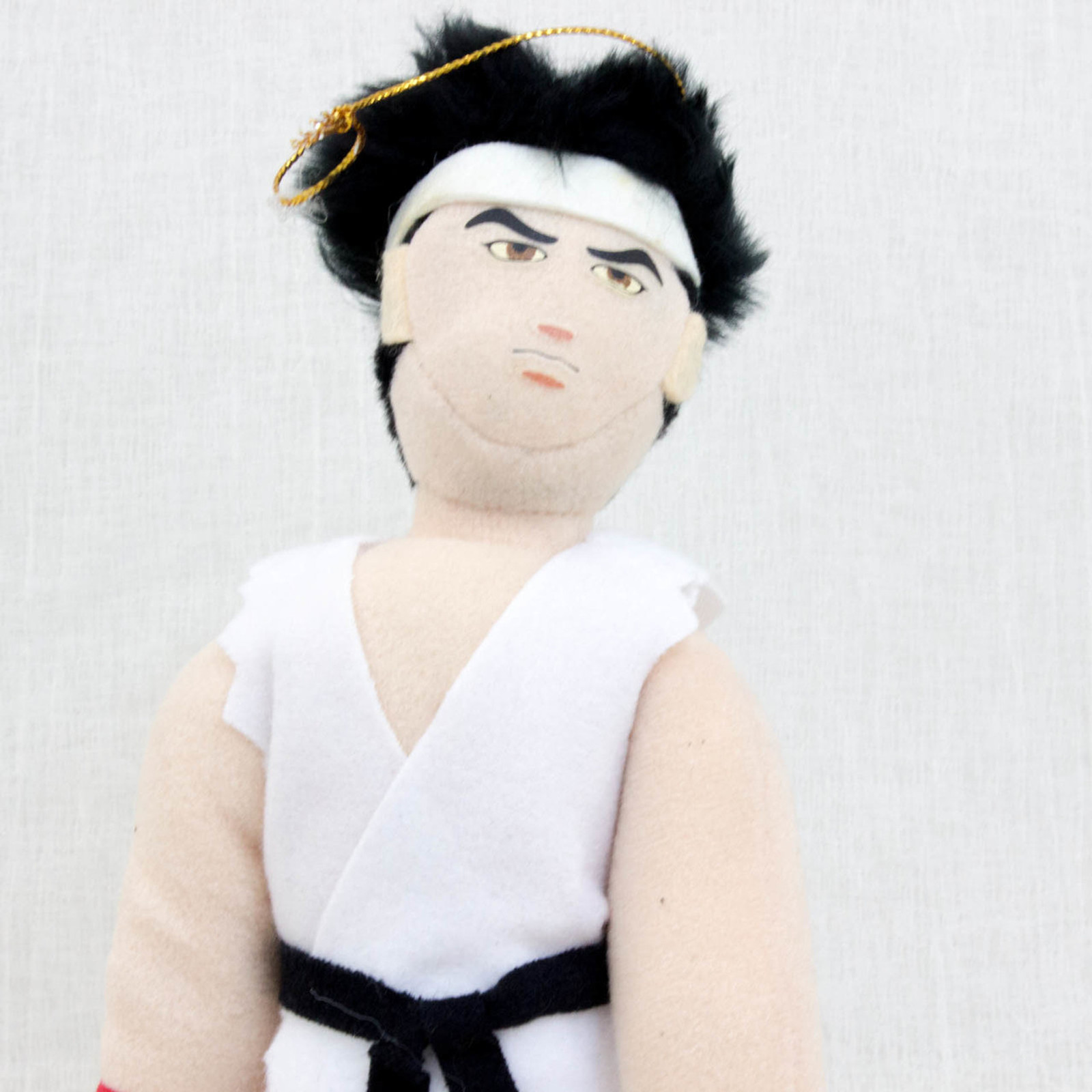 "Virtua Fighter 2 Akira Yuki White 10"" Plush Doll SEGA 1995 JAPAN GAME FIGURE"
