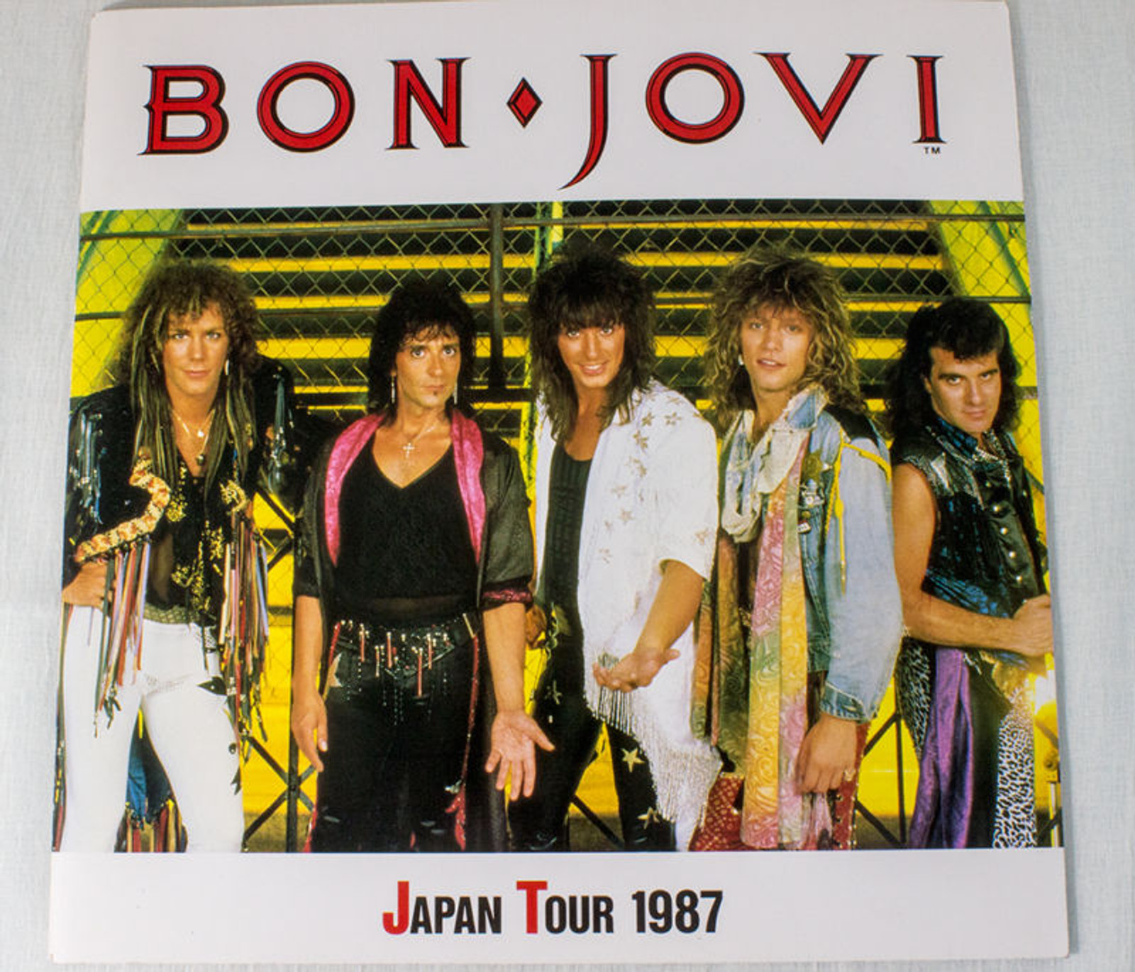 BON JOVI  Japan Tour Program 1987 Photo Art Book