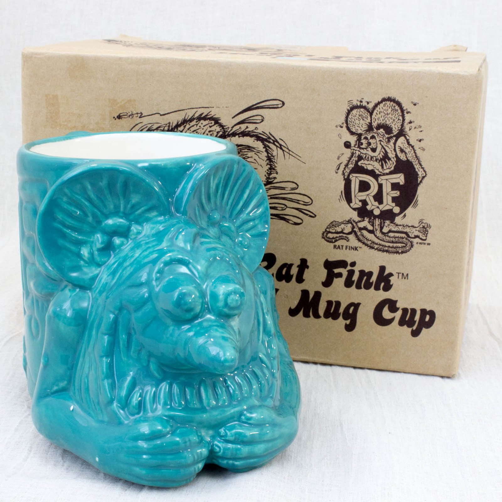RAT FINK Head Mug Cup Green ver. Moon of Japan Inc. 2008 Big Daddy JAPAN