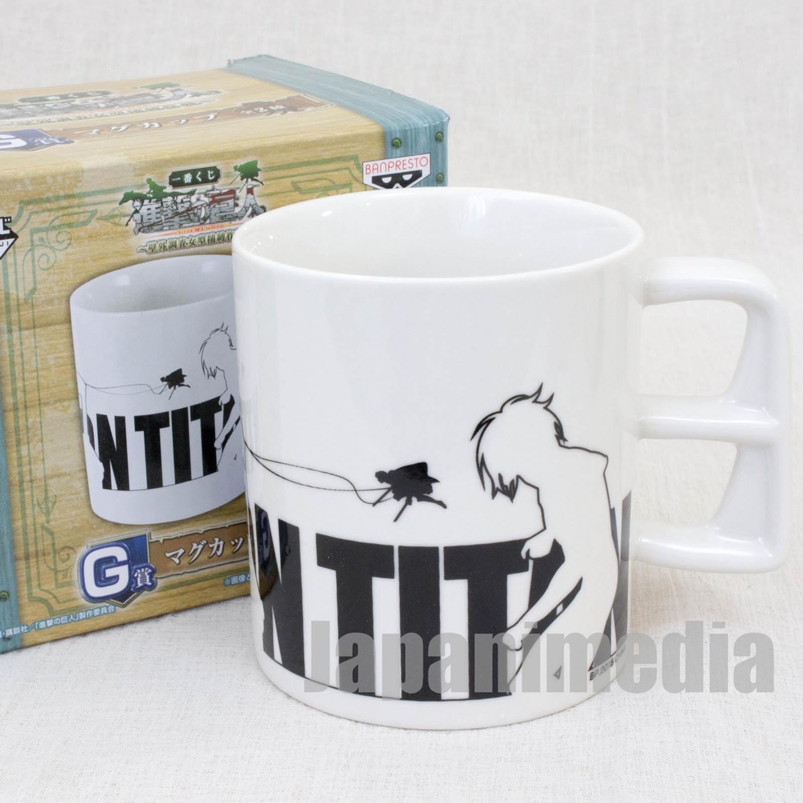 Attack on Titan Mug Eren Yeager vs Annie Leonhart Banpresto JAPAN ANIME MANGA
