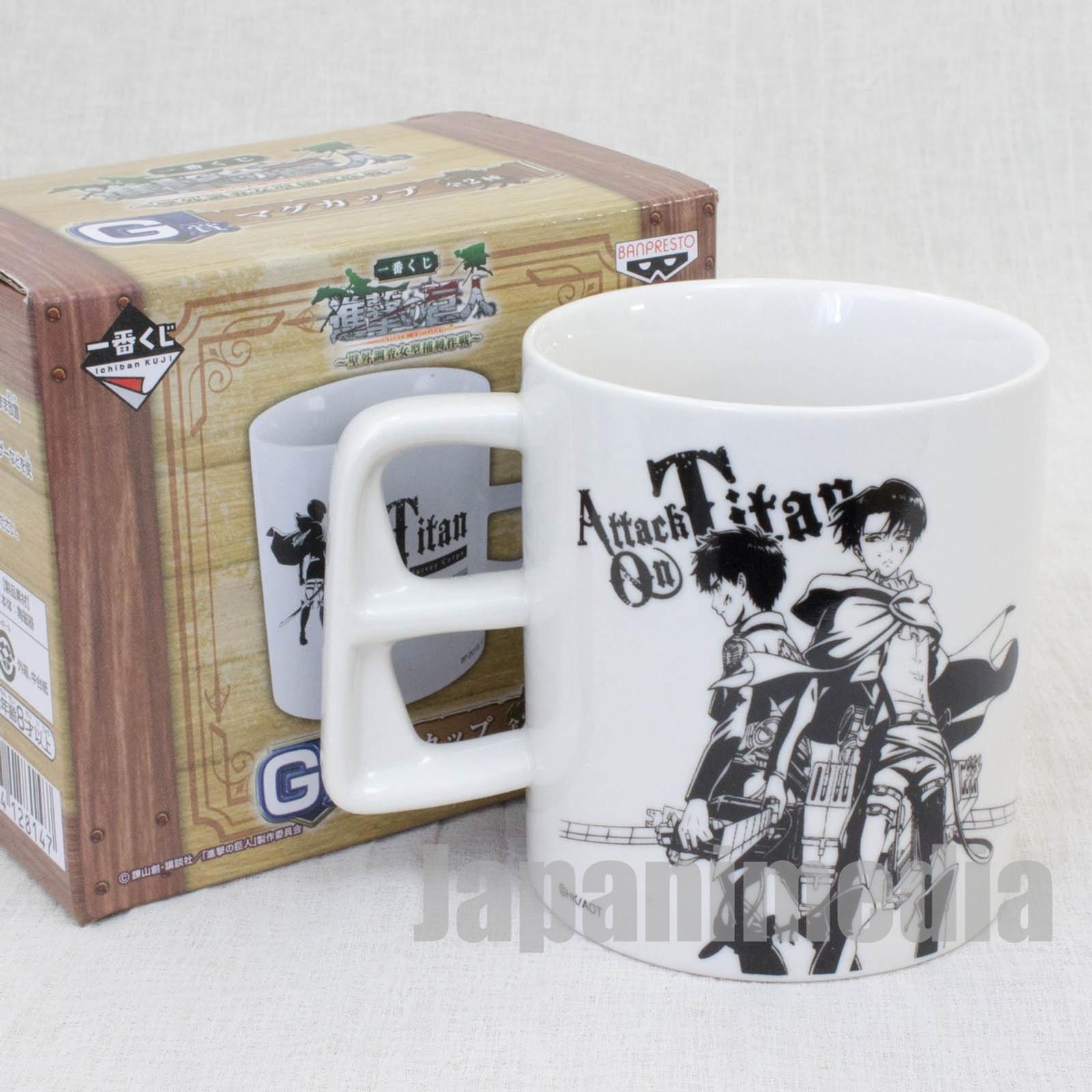 Attack on Titan Mug Eren Yeager & Levi Banpresto JAPAN ANIME MANGA