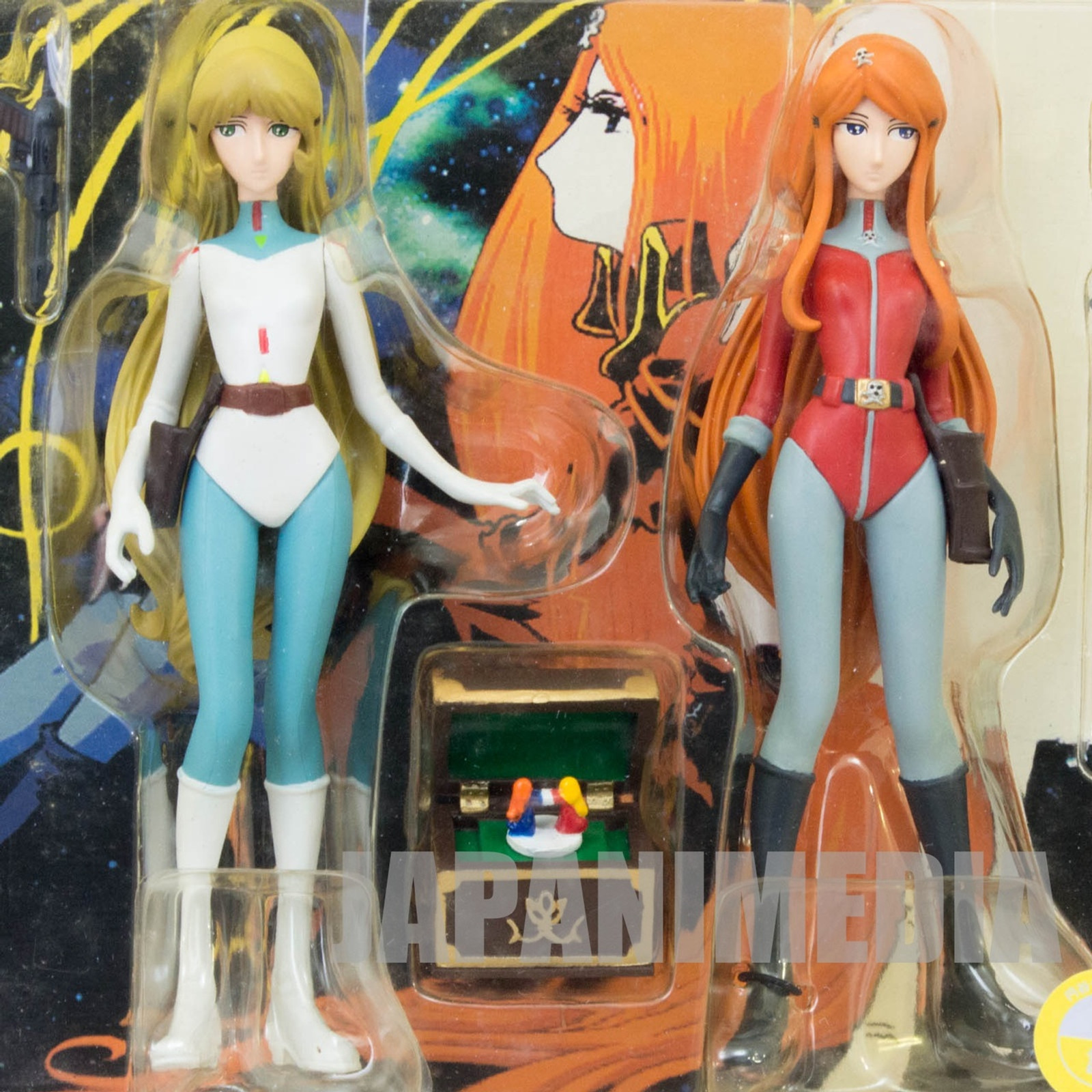 Galaxy Express 999 Maetel Legend & Queen Emeraldas Figure Set Alpha JAPAN