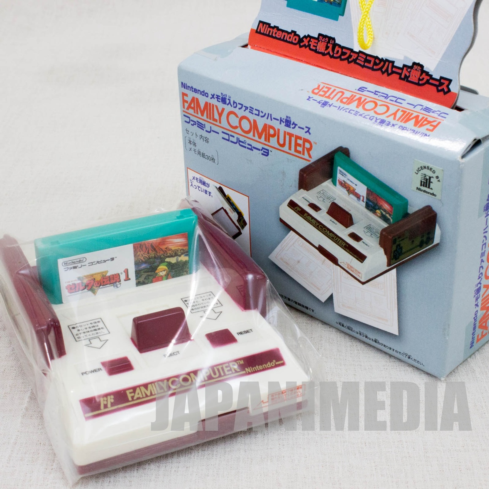 Legend of Zelda Nintendo NES Famicom Family Computer Type Memo Paper Case JAPAN