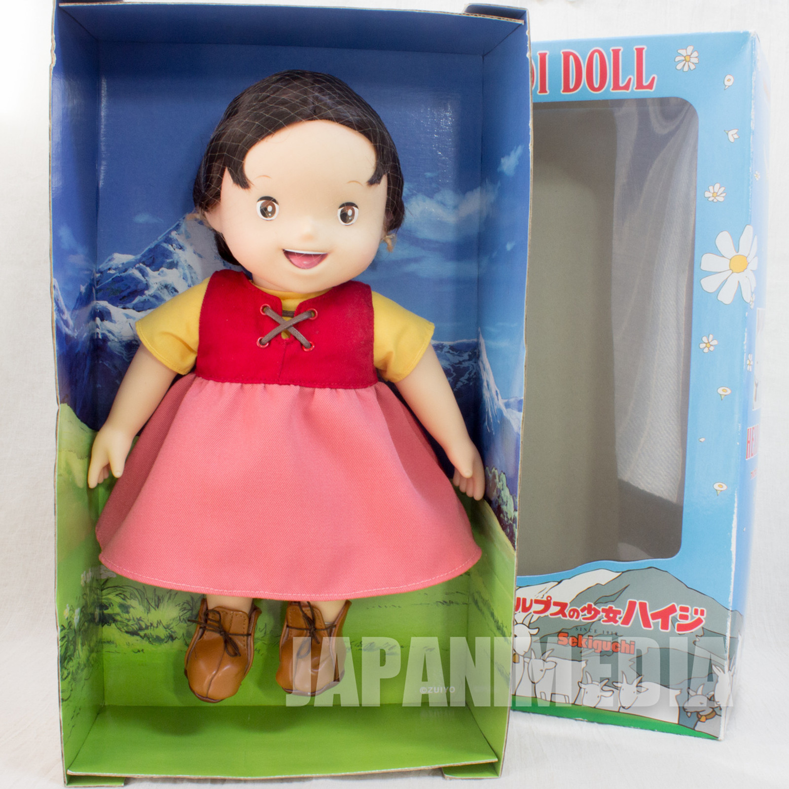 "Heidi Girl of the Alps HEIDI 13"" Big Figure Doll Sekiguchi JAPAN ANIME MANGA"