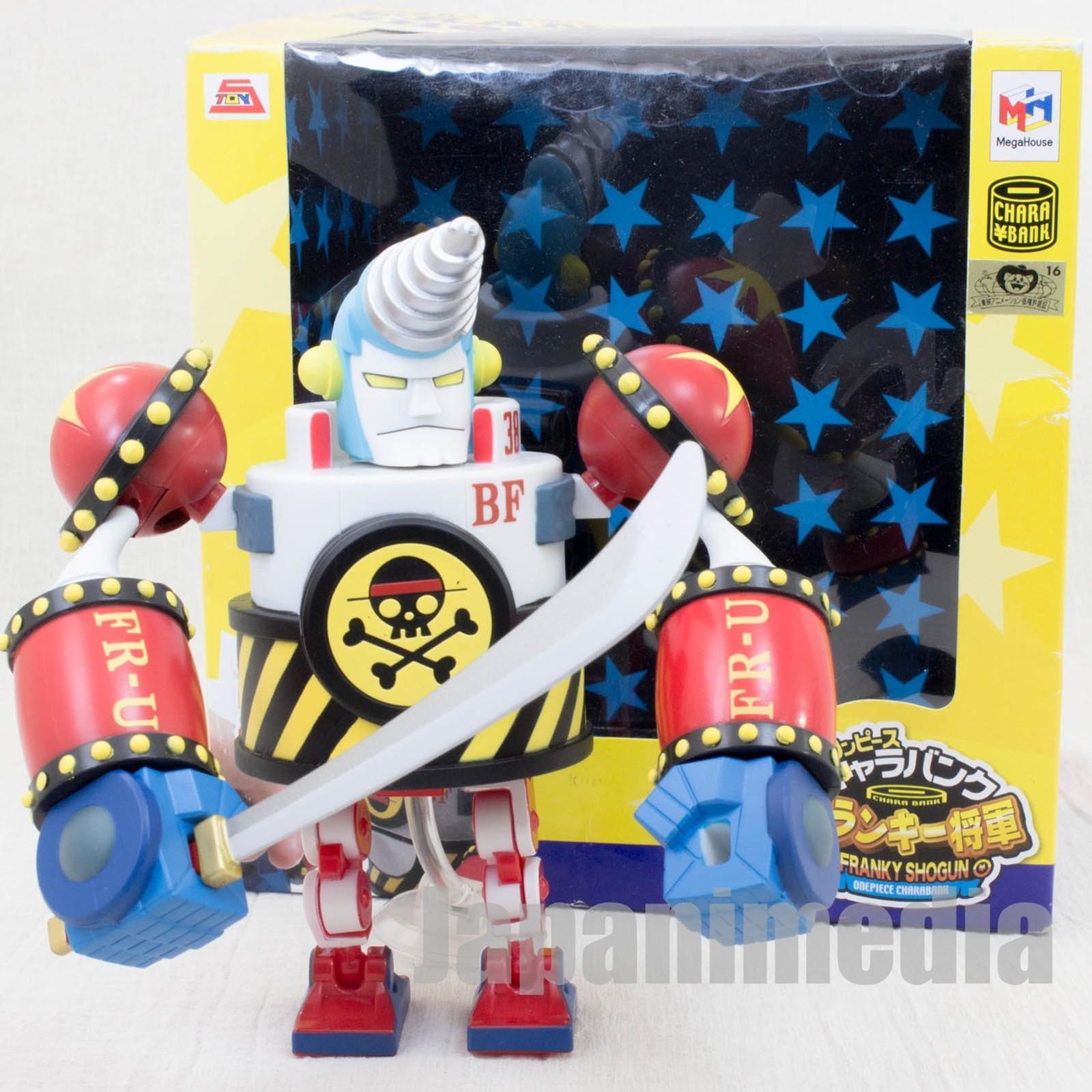 RARE! One Piece Chara Bank Franky Shogun Action Figure Megahouse JAPAN ANIME