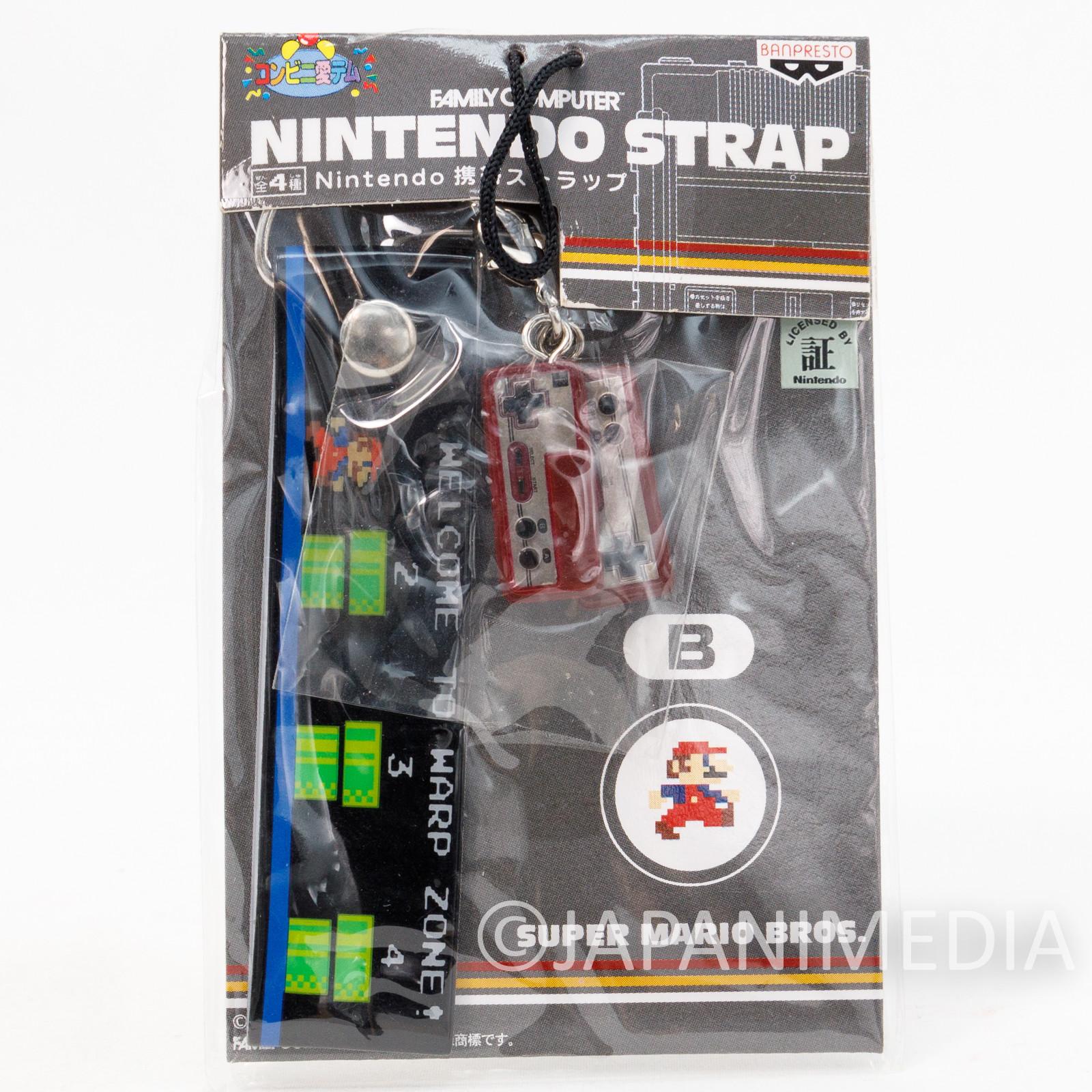 Nintendo Famicom Miniature Figure Strap Super Mario Bros. Ver. JAPAN GAME NES 2