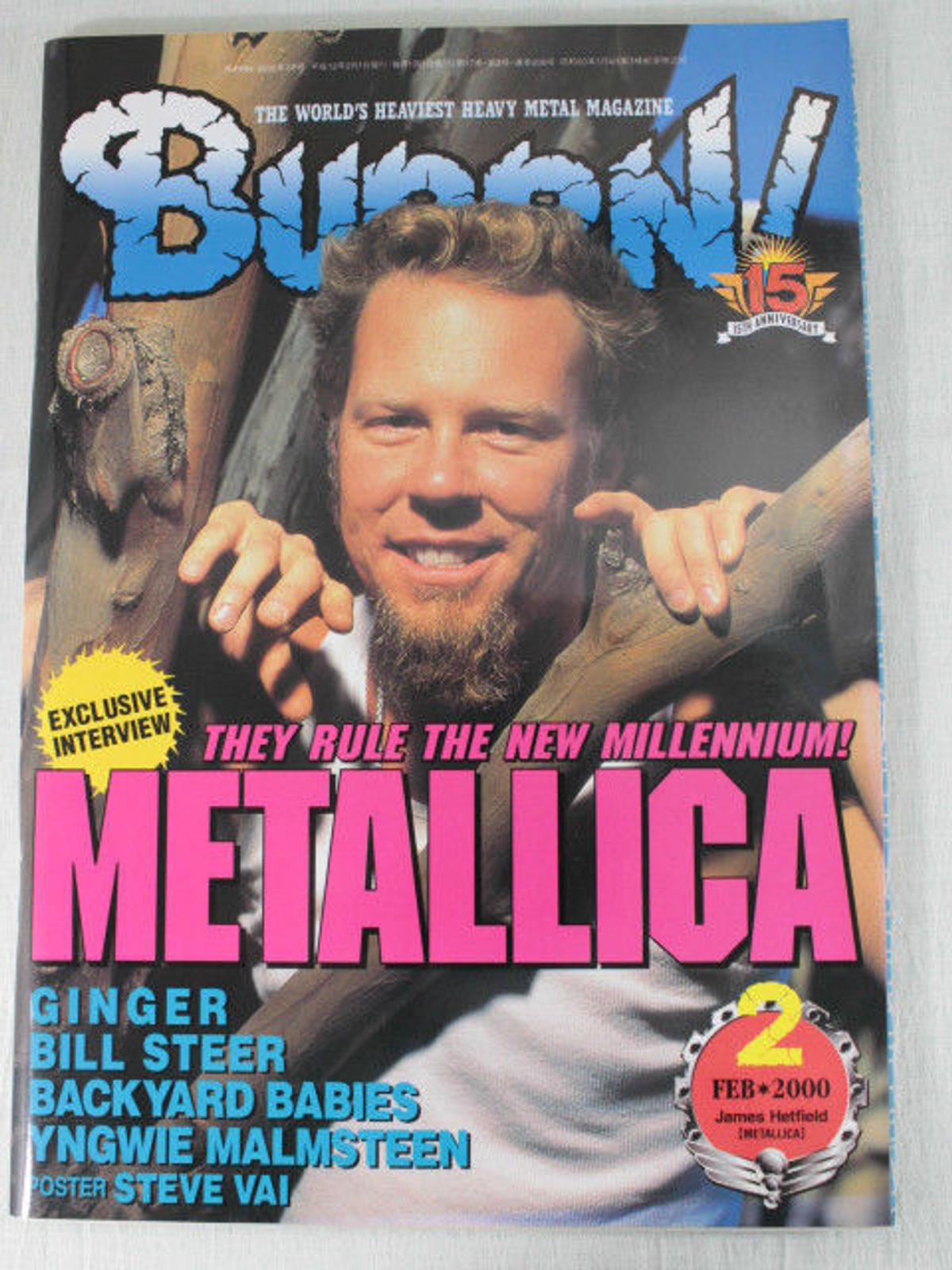 2000/02 BURRN! Japan Rock Magazine BACKYARD BABIES/VALENSIA/KORN