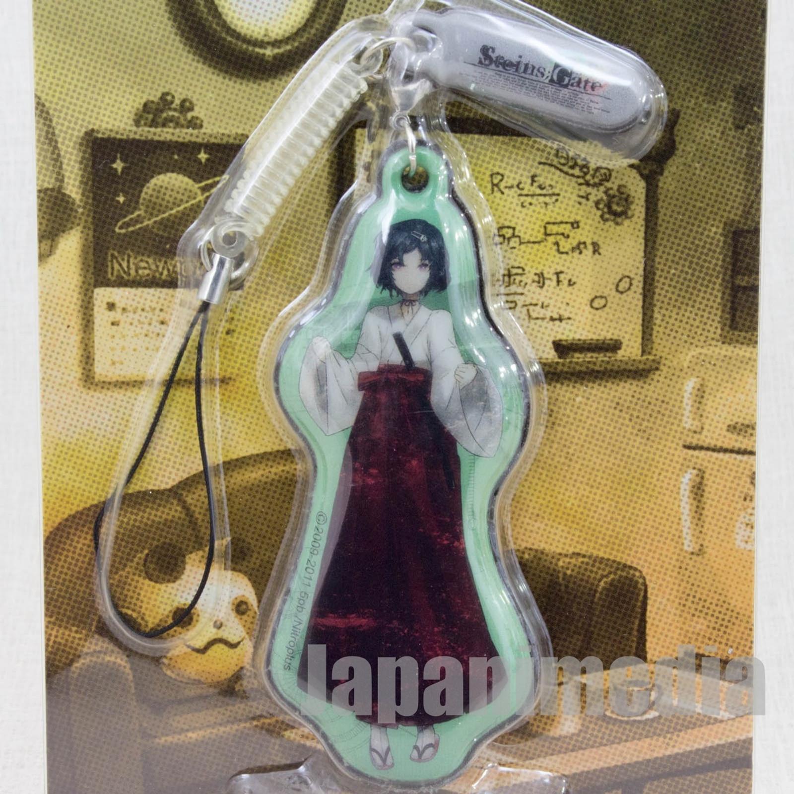 Steins ; Gate Ruka Urushibara Display Cleaner Mascot Strap Taito JAPAN ANIME