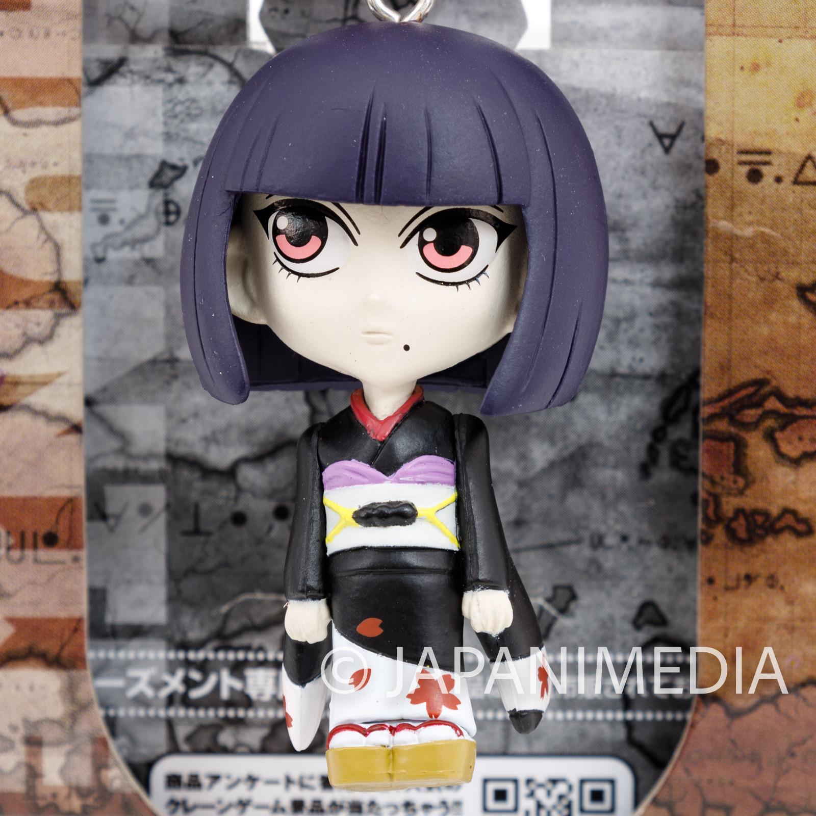 RARE! HUNTER x HUNTER Calltt Zaoldyeck Mini Figure Key Holder Chain JAPAN ANIME