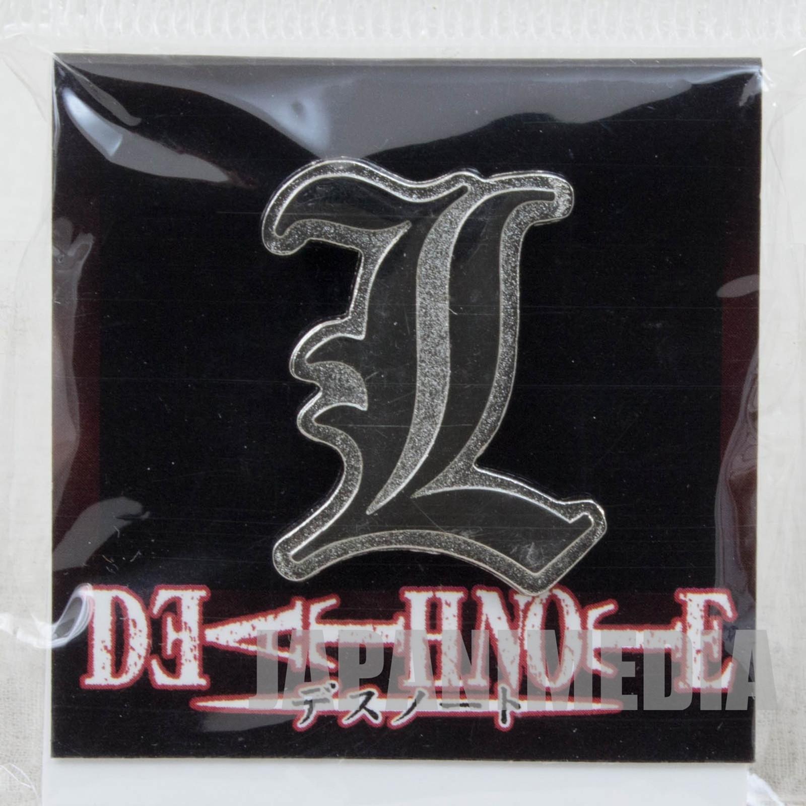RARE! Death Note L Logo Mark Pins JAPAN ANIME MANGA