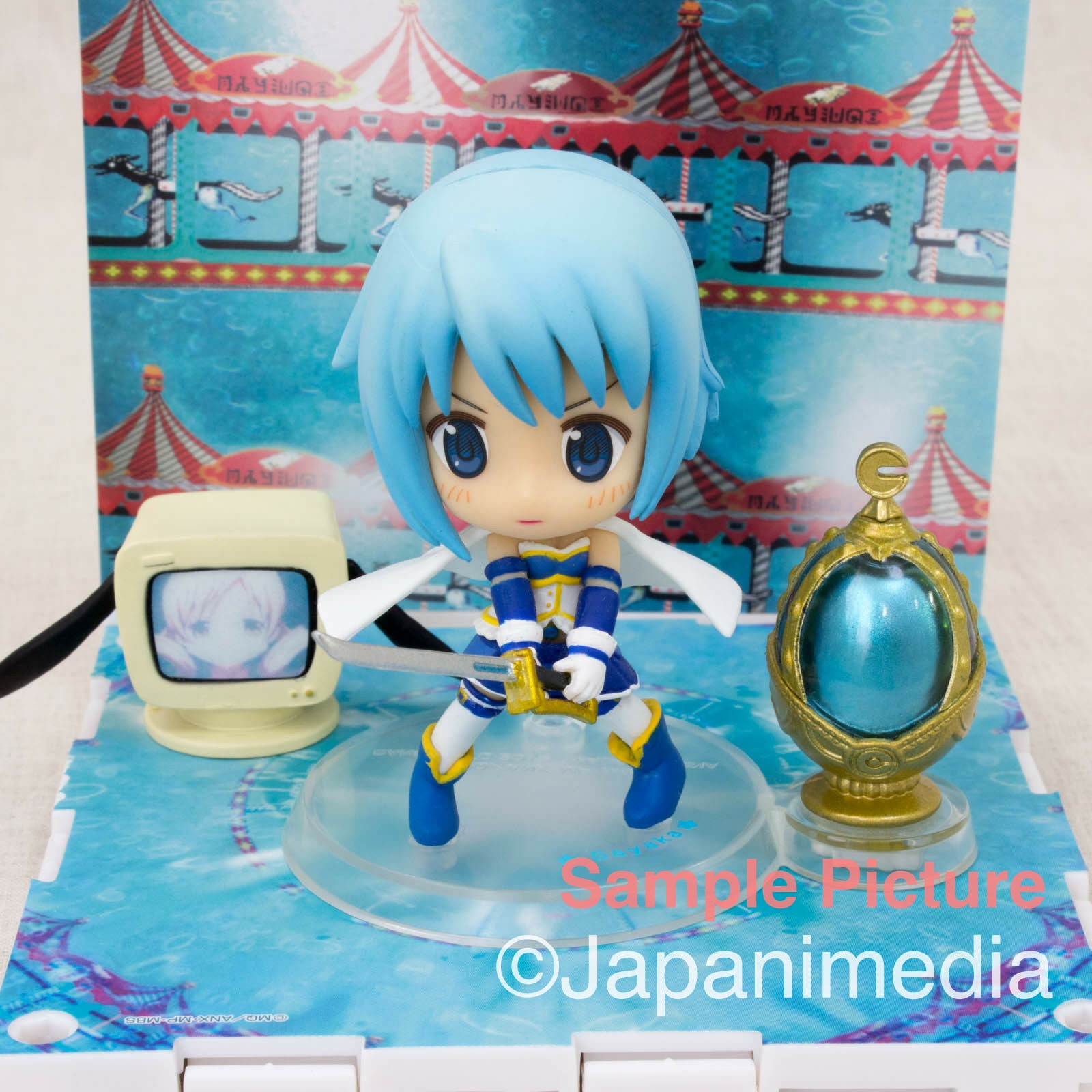 Puella Magi madoka Magica Sayaka Miki Kyun Chara Stage Set Figure JAPAN ANIME