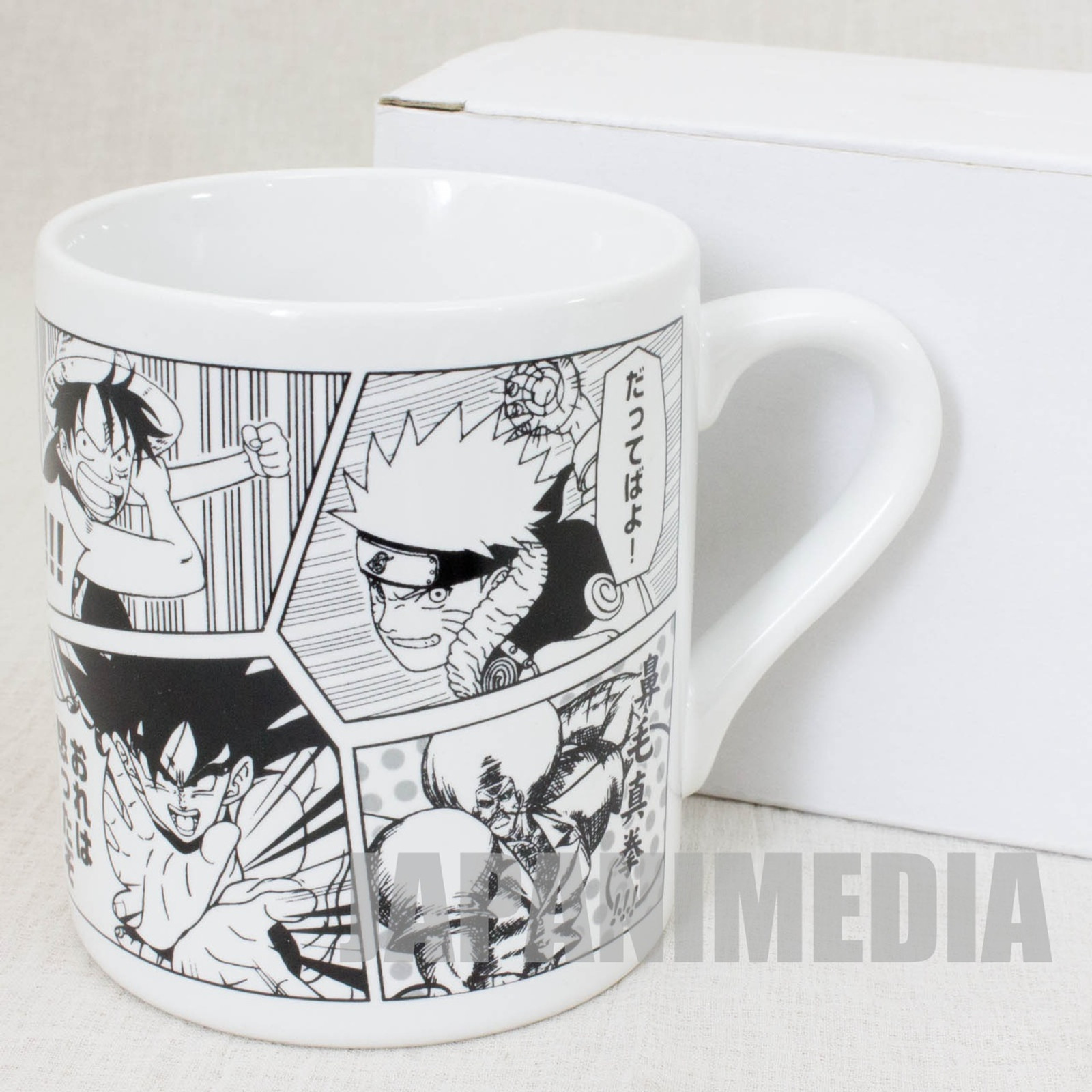 Jump Super Stars Promotion Mug Naruto Dragonball One Piece SHONEN JUMP