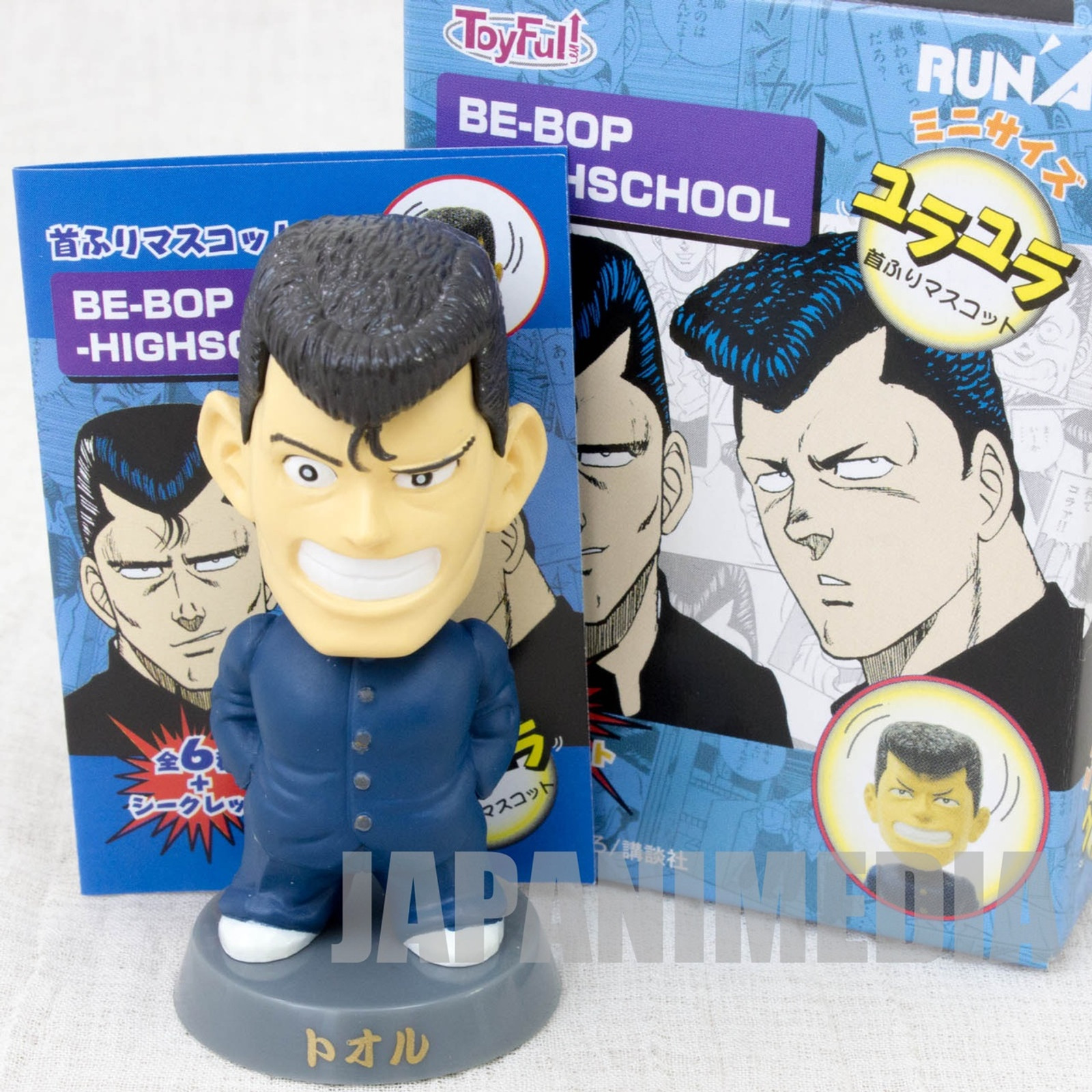 Be-Bop High School Tooru Nakama Bobble Head Figure Toyfull JAPAN MANGA BE BOP