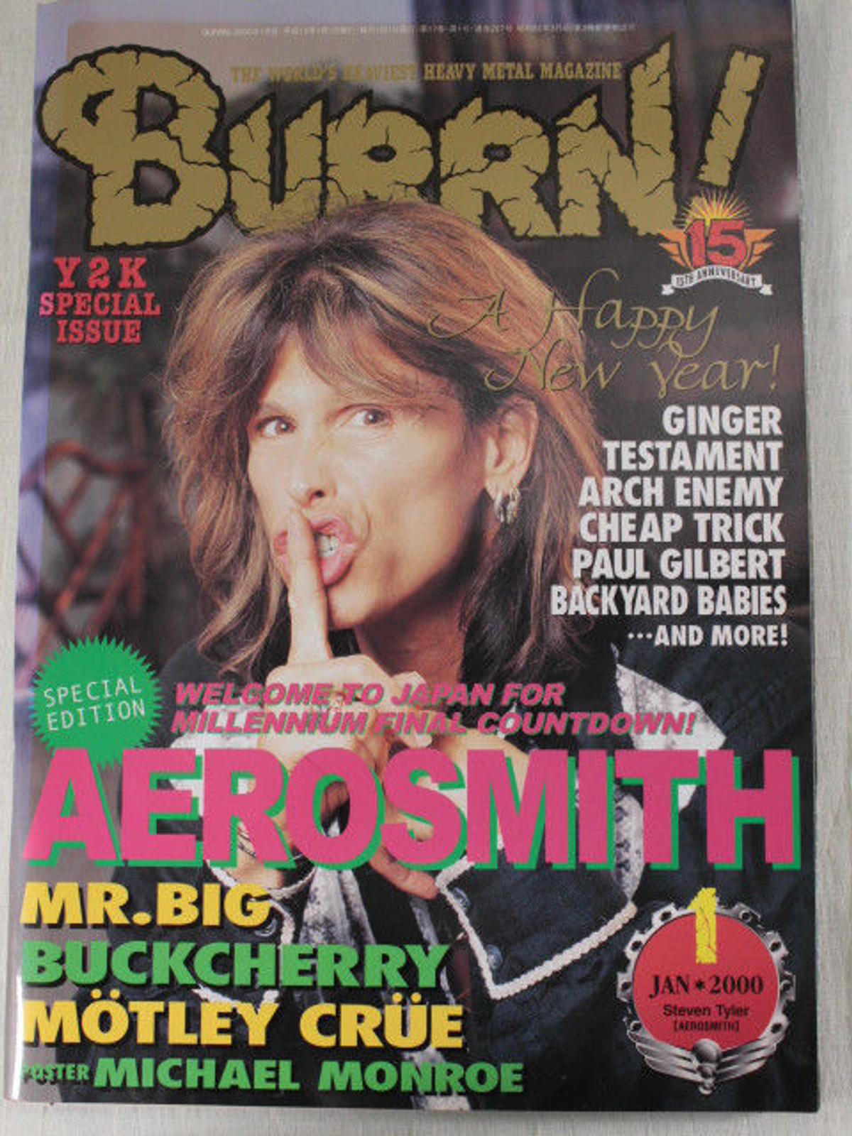 2000/01 BURRN! Japan Rock Magazine AEROSMITH/BUCKCHERRY/IZZY STRADLIN/MR.BIG