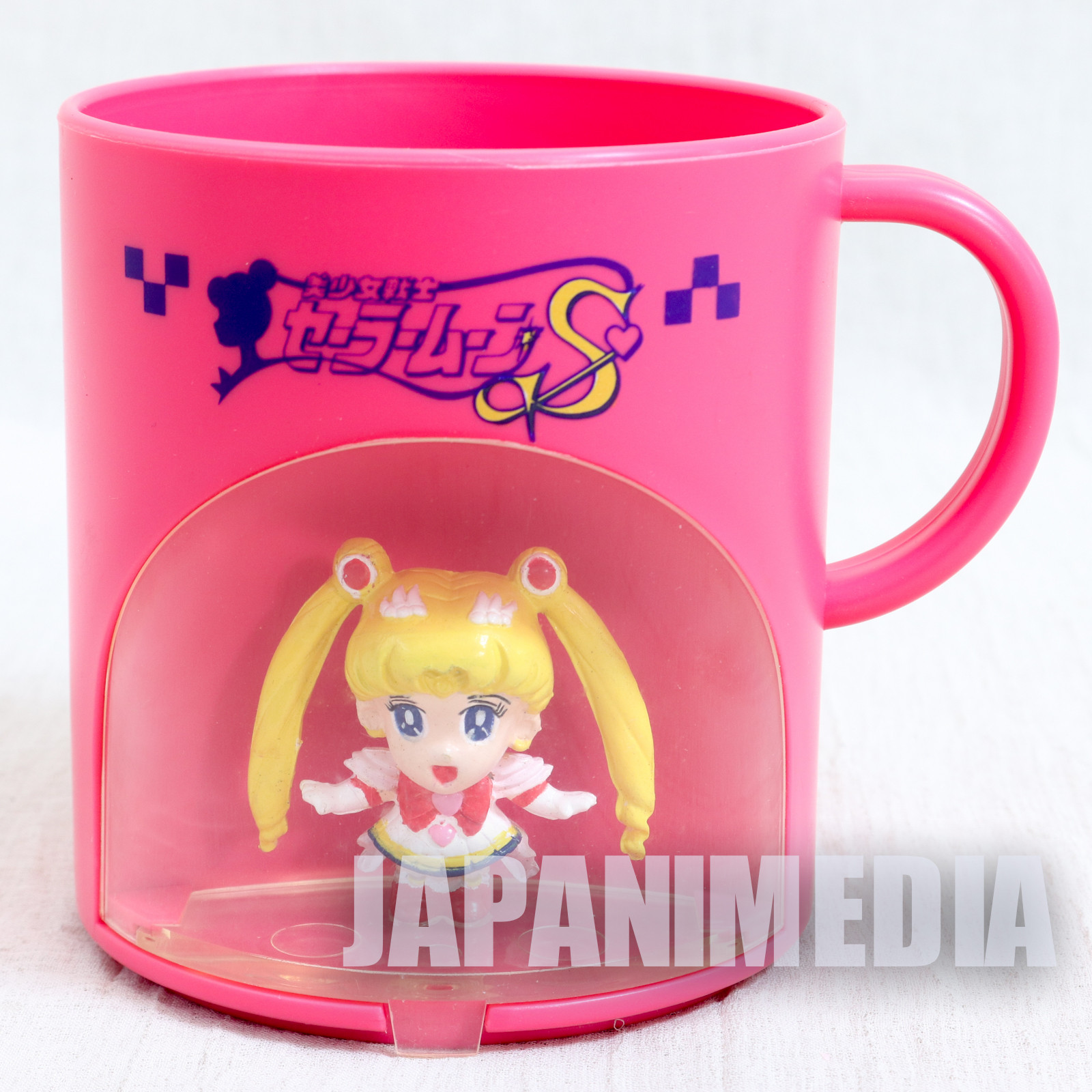 Sailor Moon S Sailor Moon (Usagi Tsukino) Figure in Plastic Mug Banpresto 1994 JAPAN ANIME MANGA