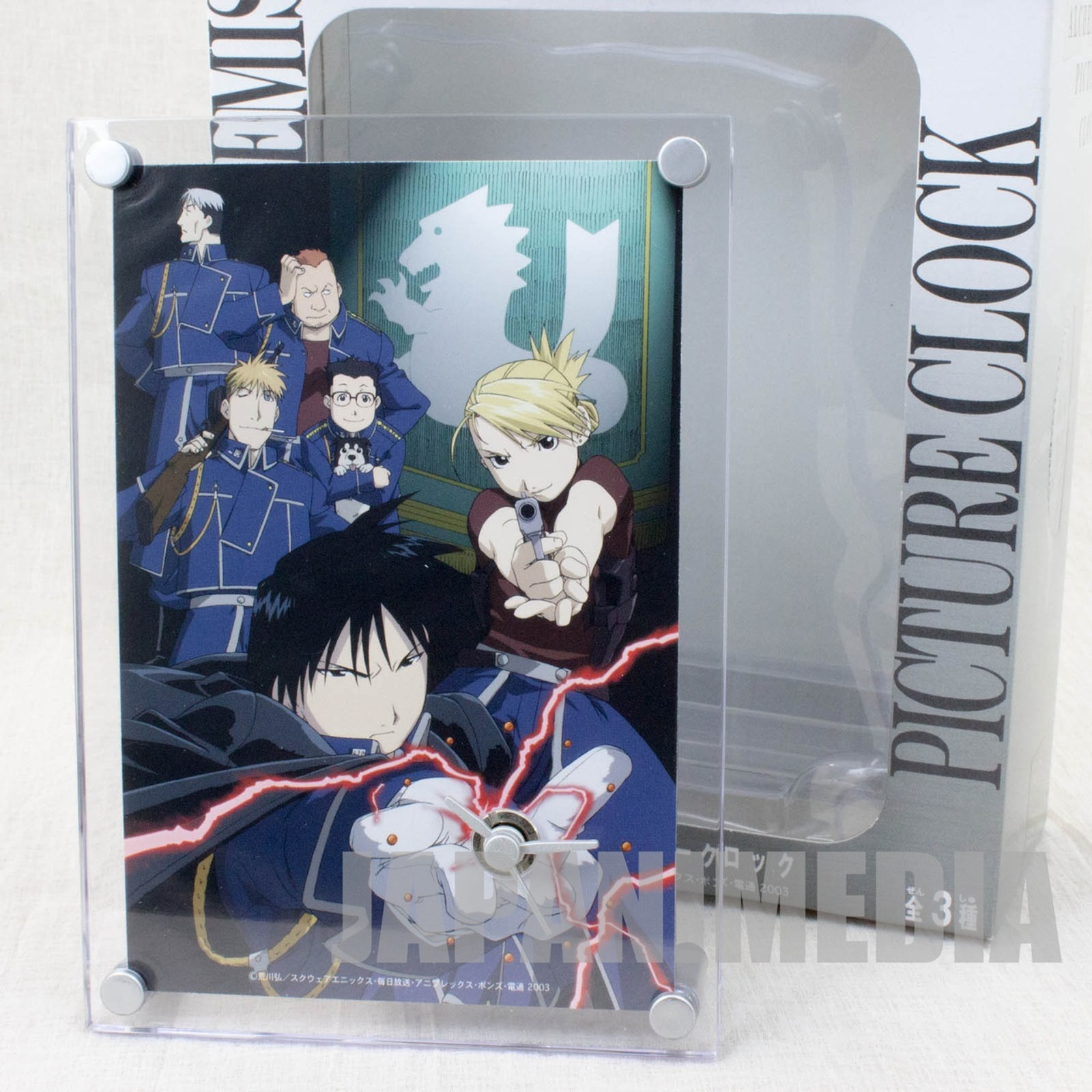 Fullmetal Alchemist Mustang & Riza Picture Desktop Clock JAPAN ANIME MANGA
