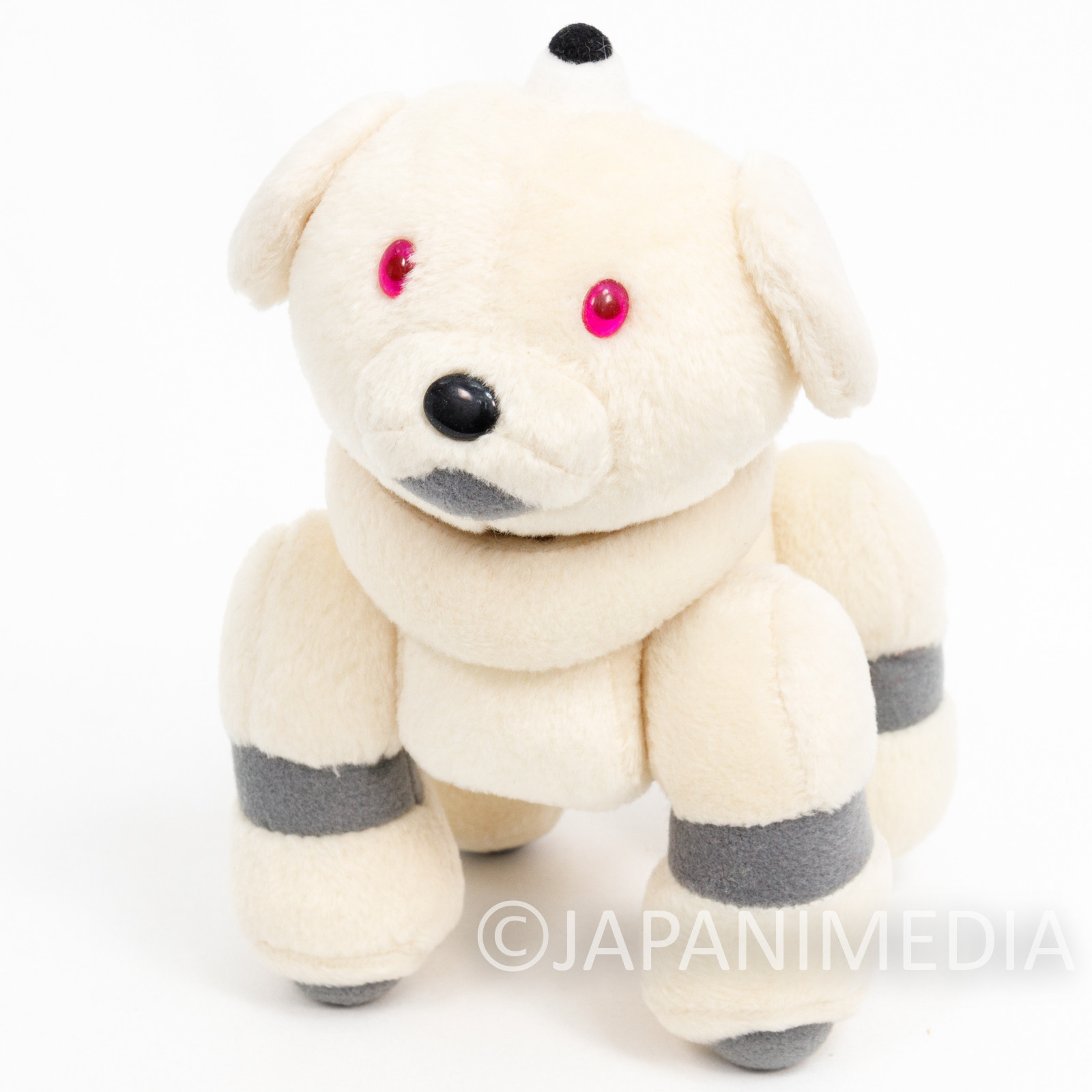 """AIBO Ivory 7"""" Plush Doll Figure Official Goods JAPAN SONY"""